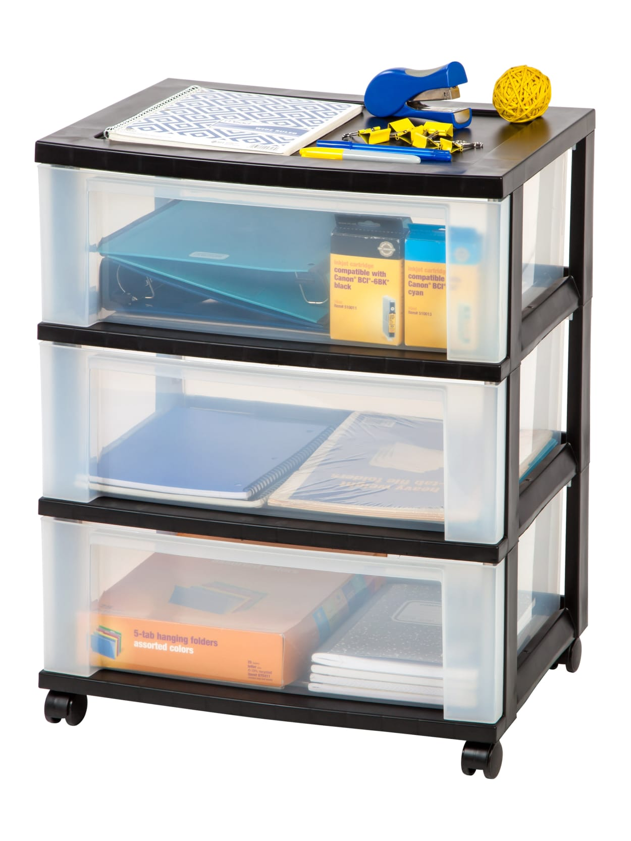 Office Depot Plastic Storage Cart Black