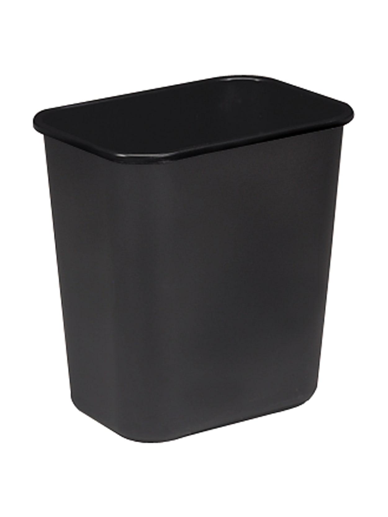 Black Wastebasket Sparco Rectangular 7 Gal