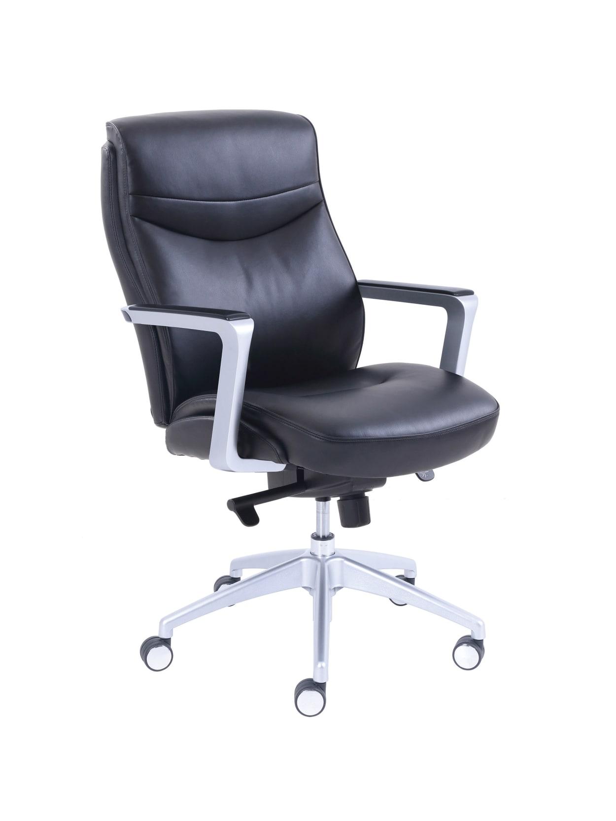 La Z Boy Bonded Leather Manager Chair Black Office Depot
