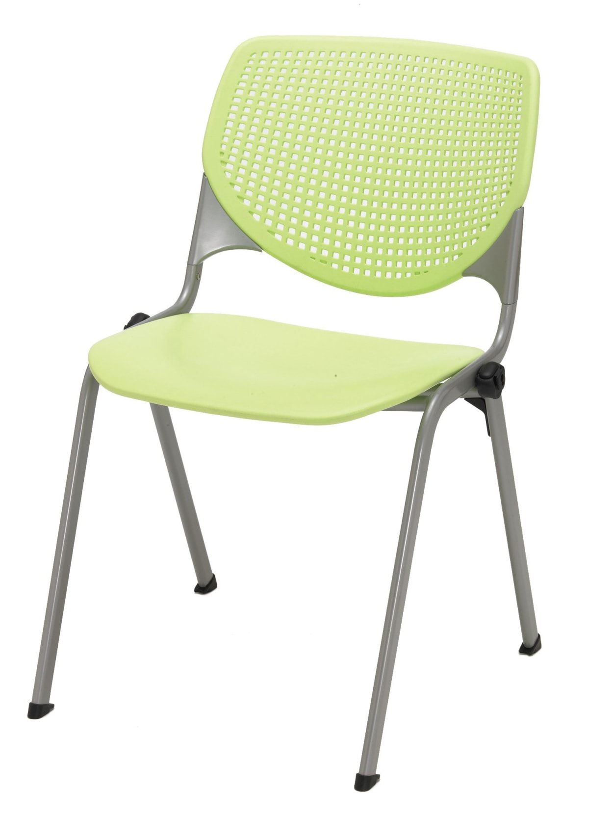 KFI Studios KOOL Stacking Chair, Lime Green/Silver Item # 50