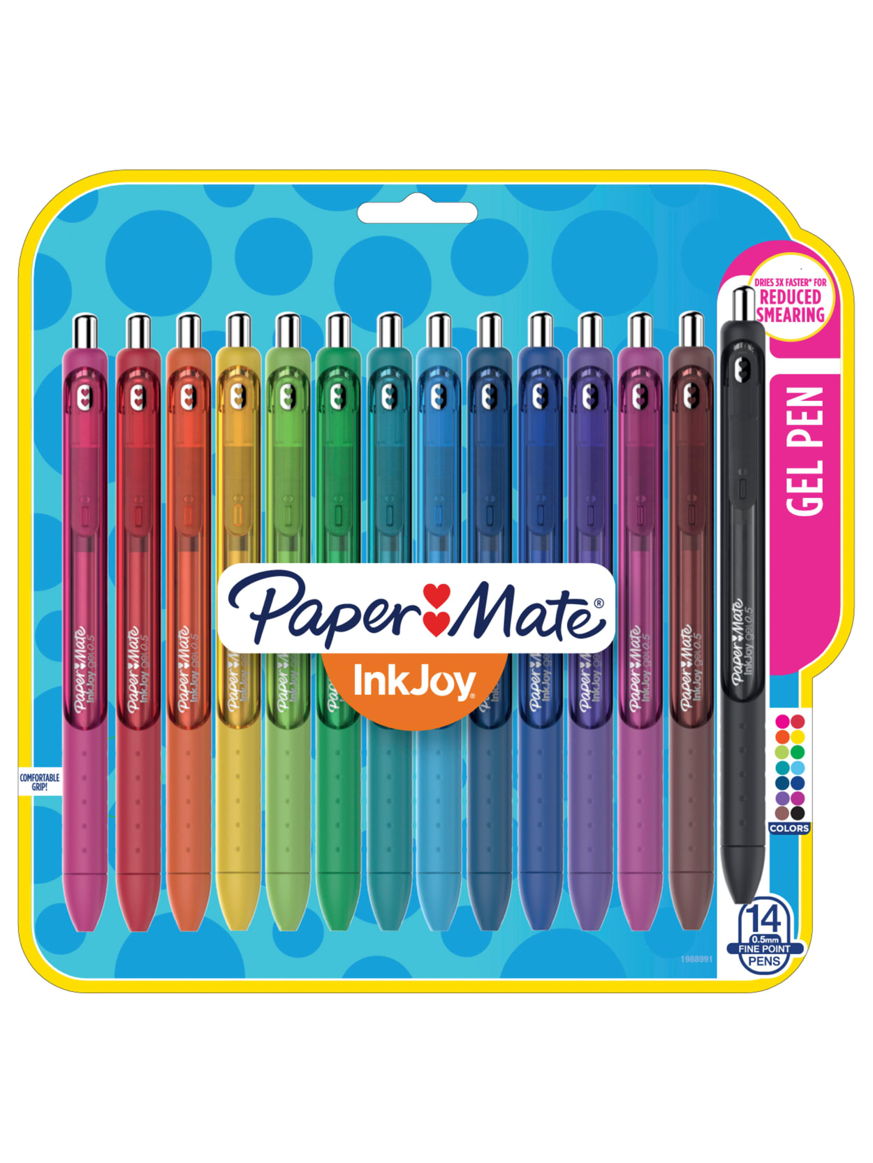 Paper Mate InkJoy stationery set 2 retractable pencils 4 erasable highlighters