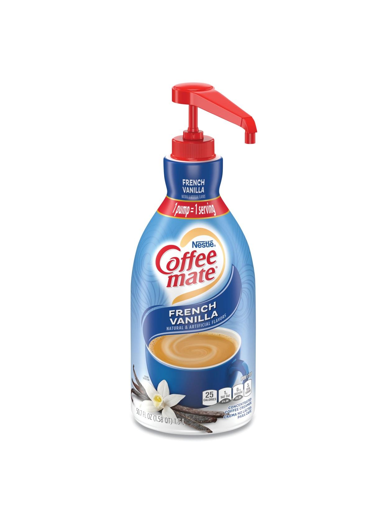 Nestl Coffee Mate Liquid Creamer French Vanilla Flavor 50 72 Oz Multiple Serve X 1 Office Depot