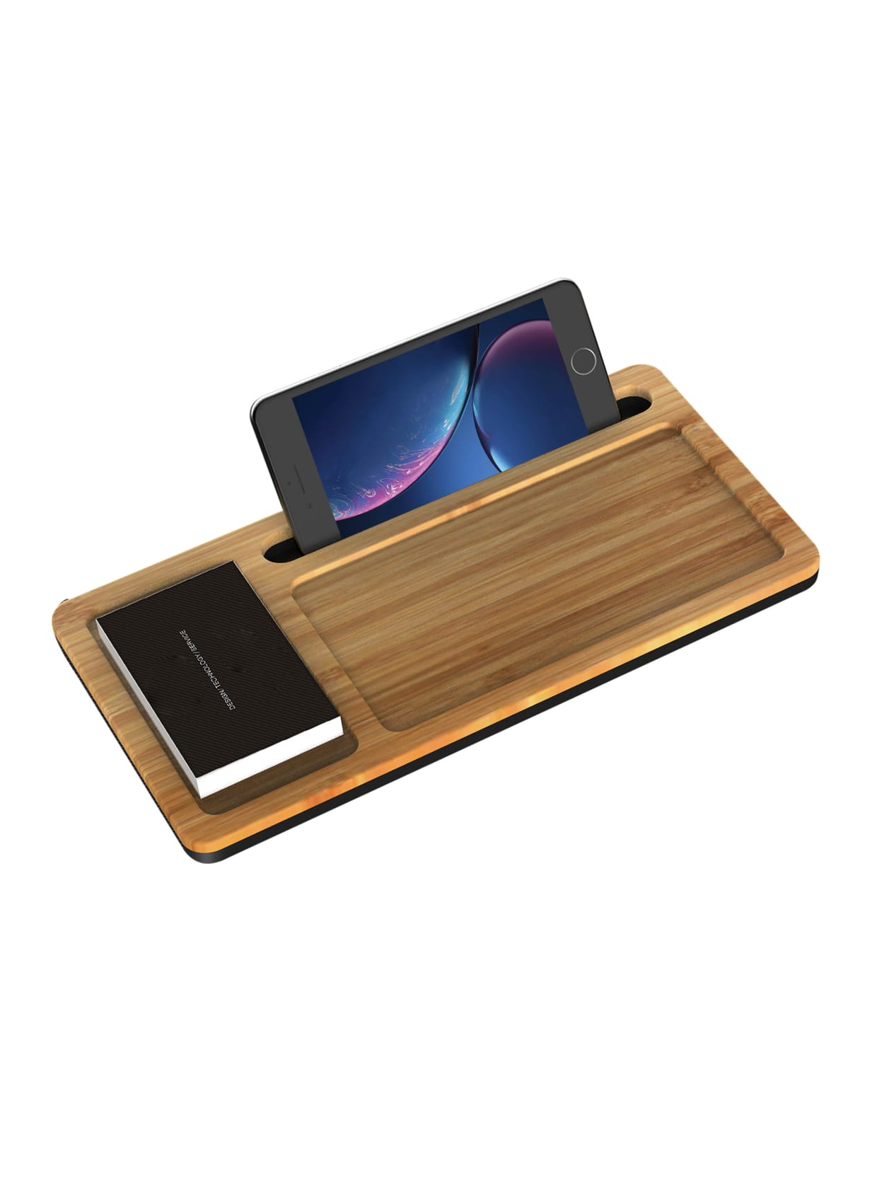 Ivomax 1906 Wireless Charger Organizer Wood Office Depot