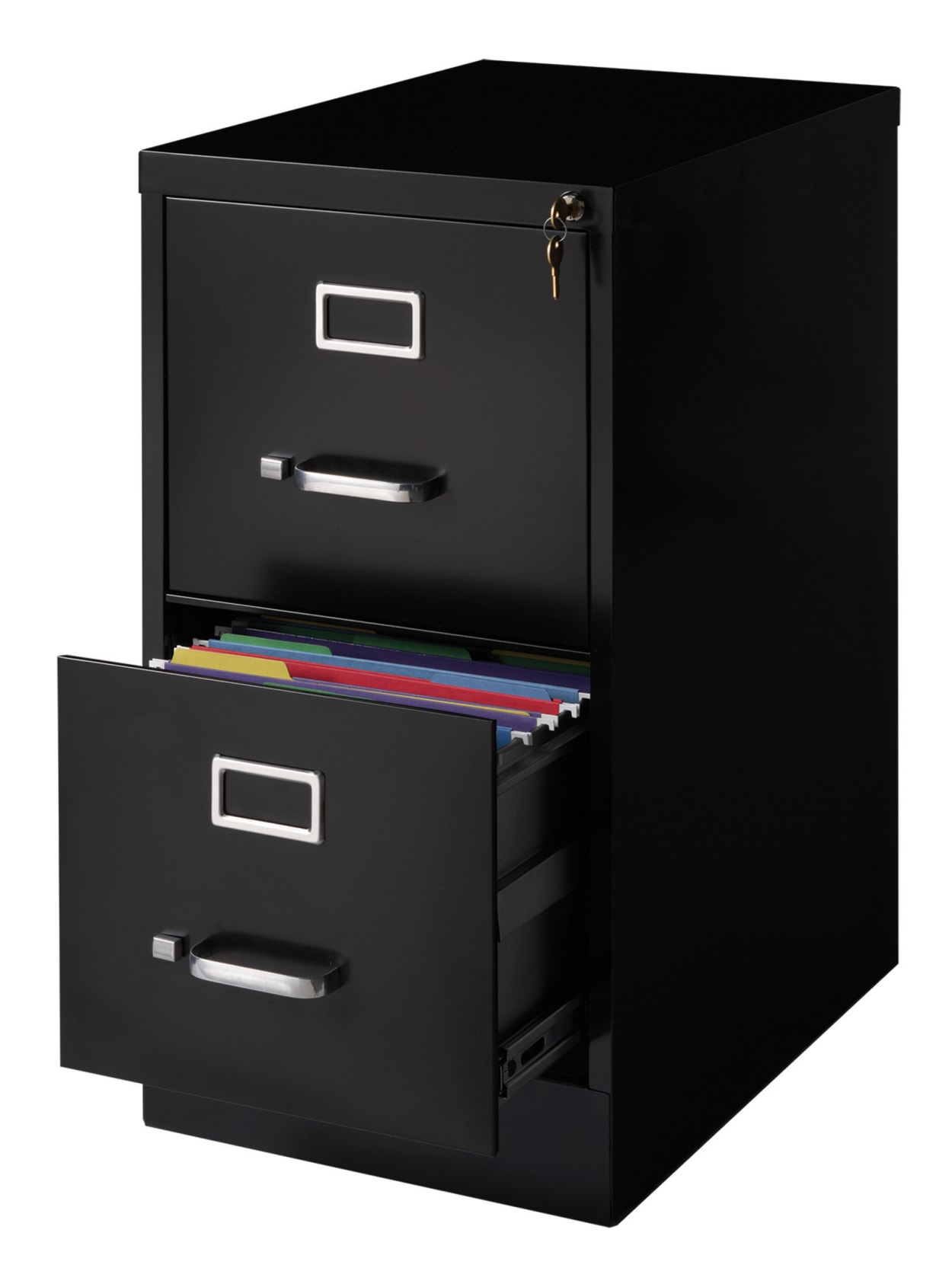 Mocha 2 Drawers Realspace Premium Letter-Size Vertical File Cabinet