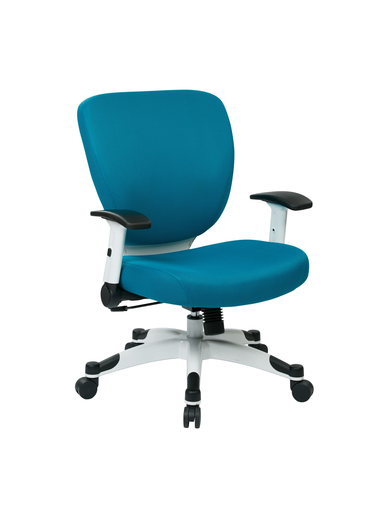 Picture of: Office Star Space Seating Professional Deluxe Mesh Mid Back Task Chair Bluewhite Office Depot