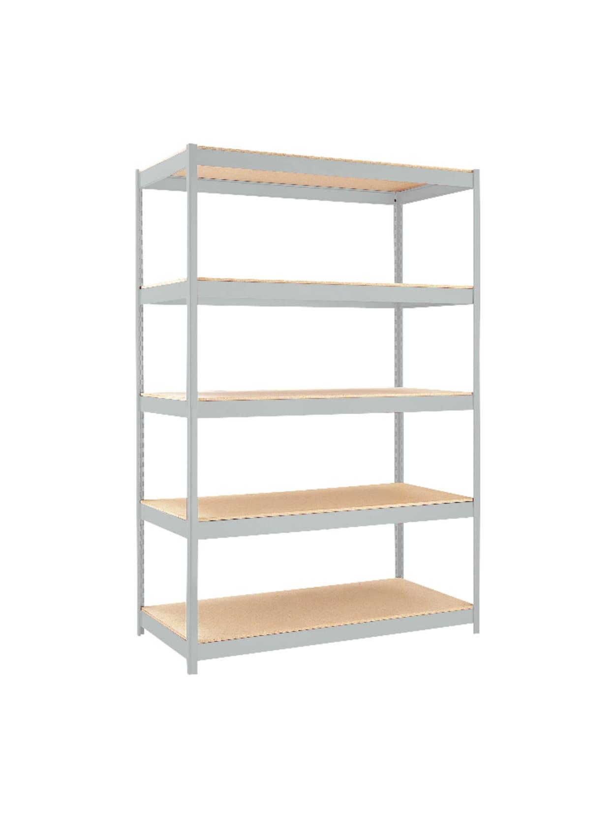 Hirsh Industries 1500 Series Steel Shelving 5 Shelves 48 W Gray Office Depot