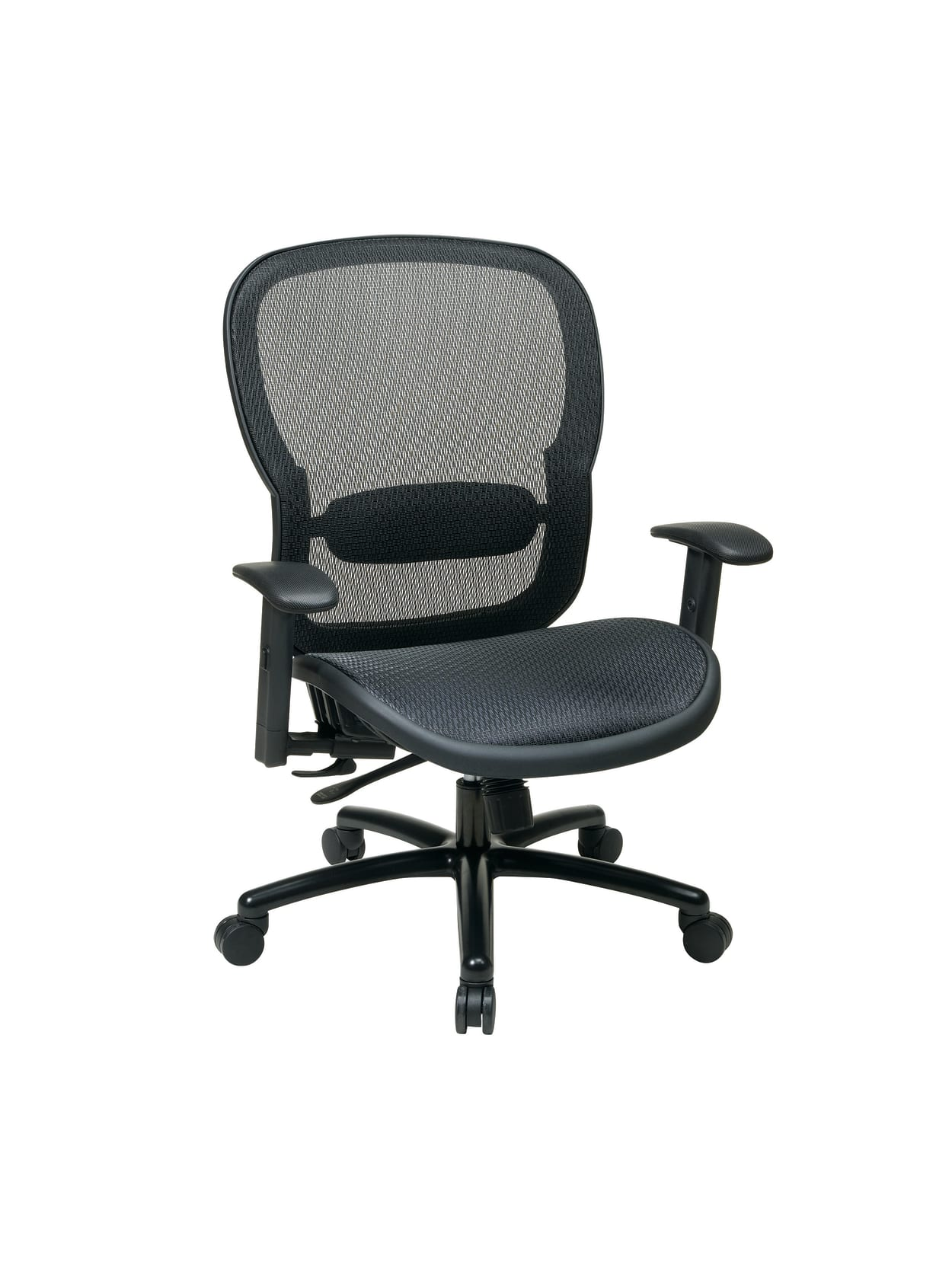 Picture of: Office Star Breathable Mesh High Back Big And Tall Executive Chair Black Office Depot