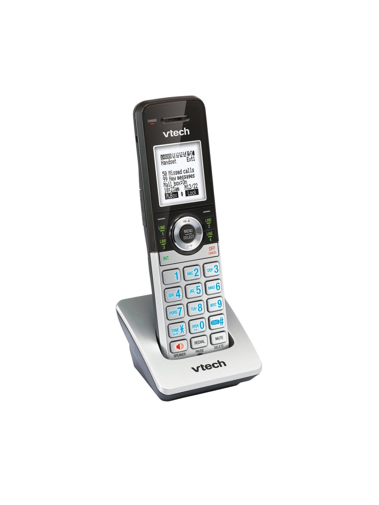 Vtech Cm18045 Cordless Expansion Handset For Vtech Cm184455 Small Business Office Phone Systems Office Depot