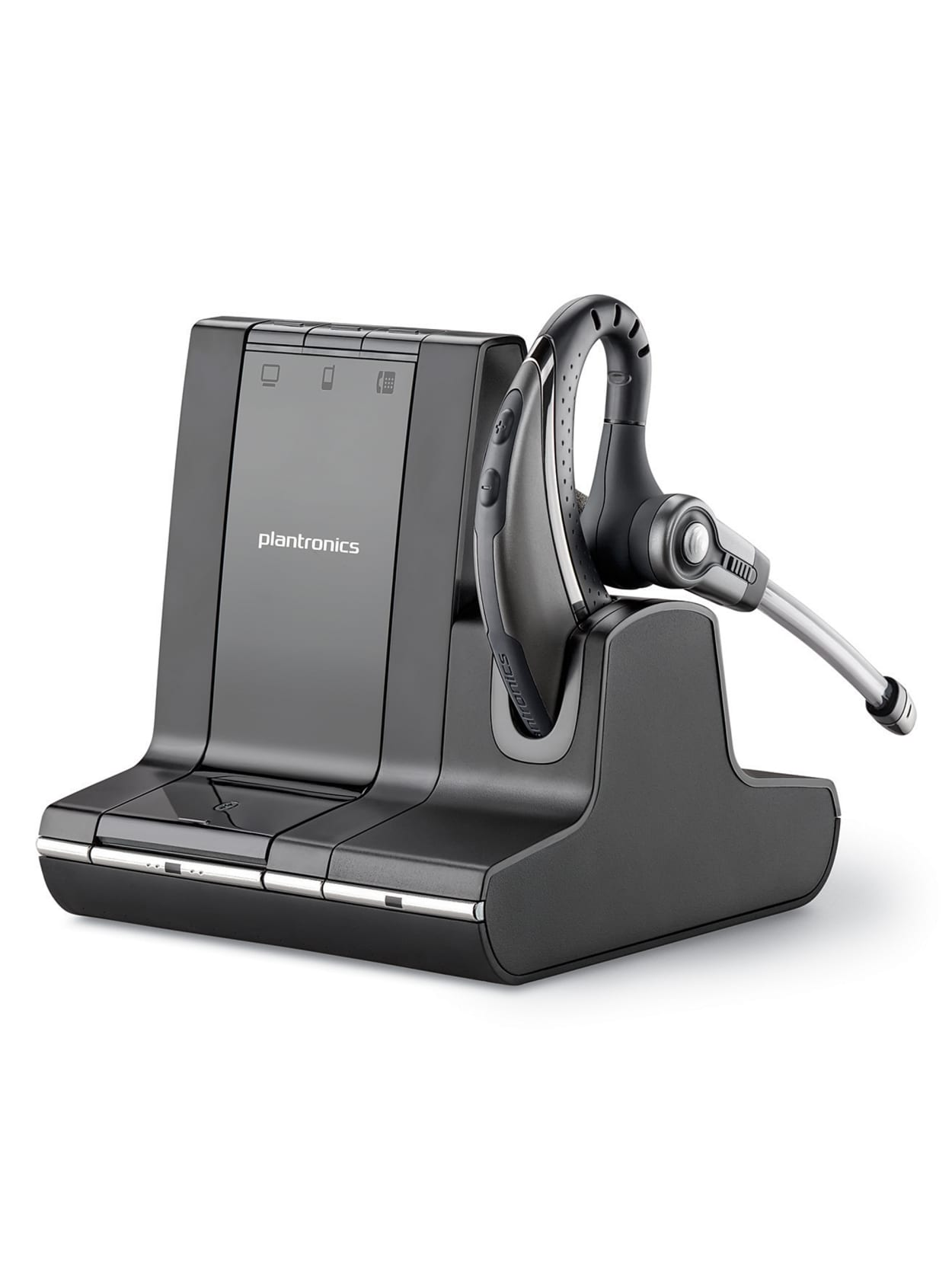 Plantronics Savi 730 Wireless Headset System Blacksilver Office Depot