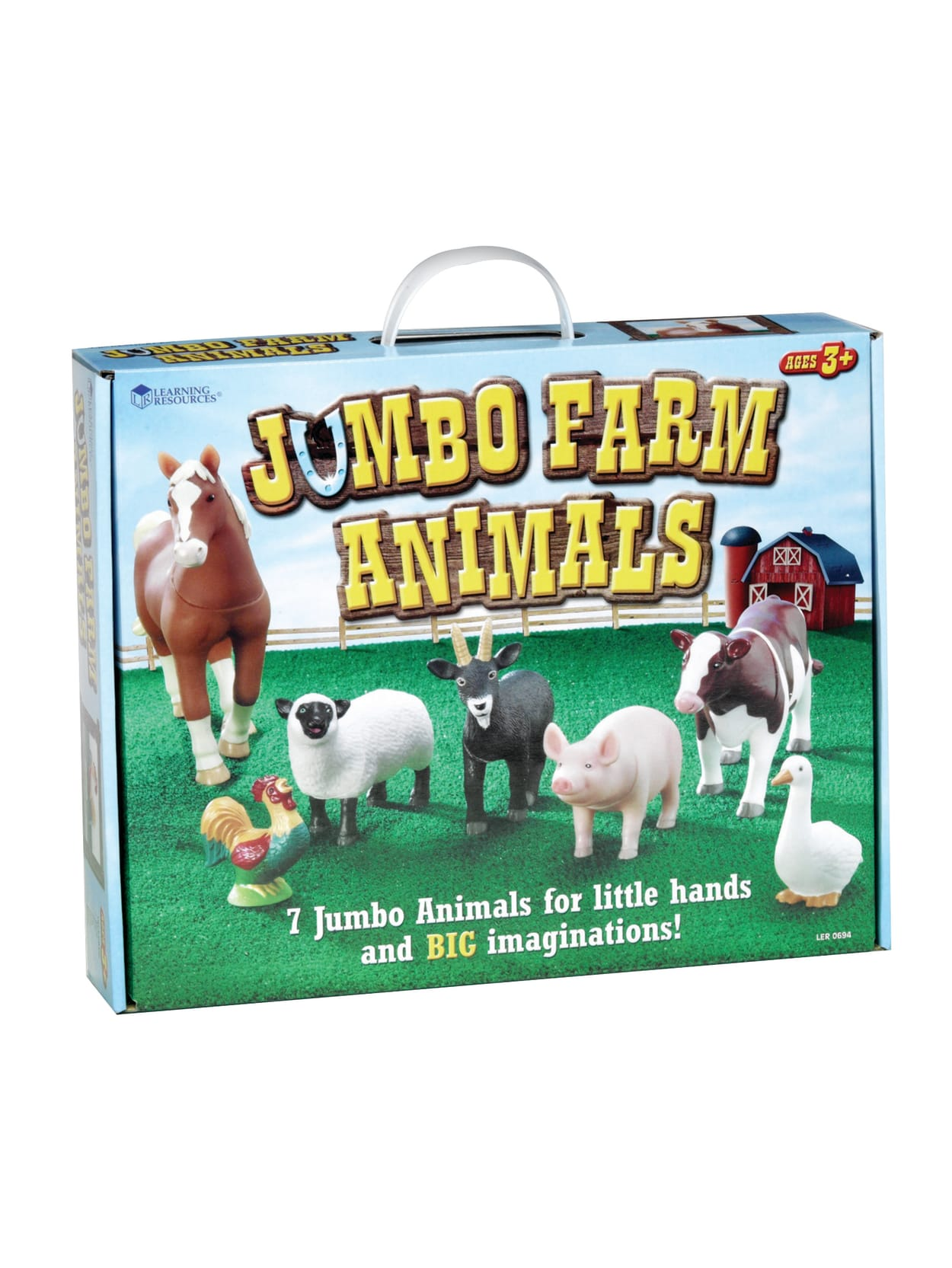 Learning Resources Jumbo Farm Animals Grades Pre K 3 Set Of 7 Office Depot