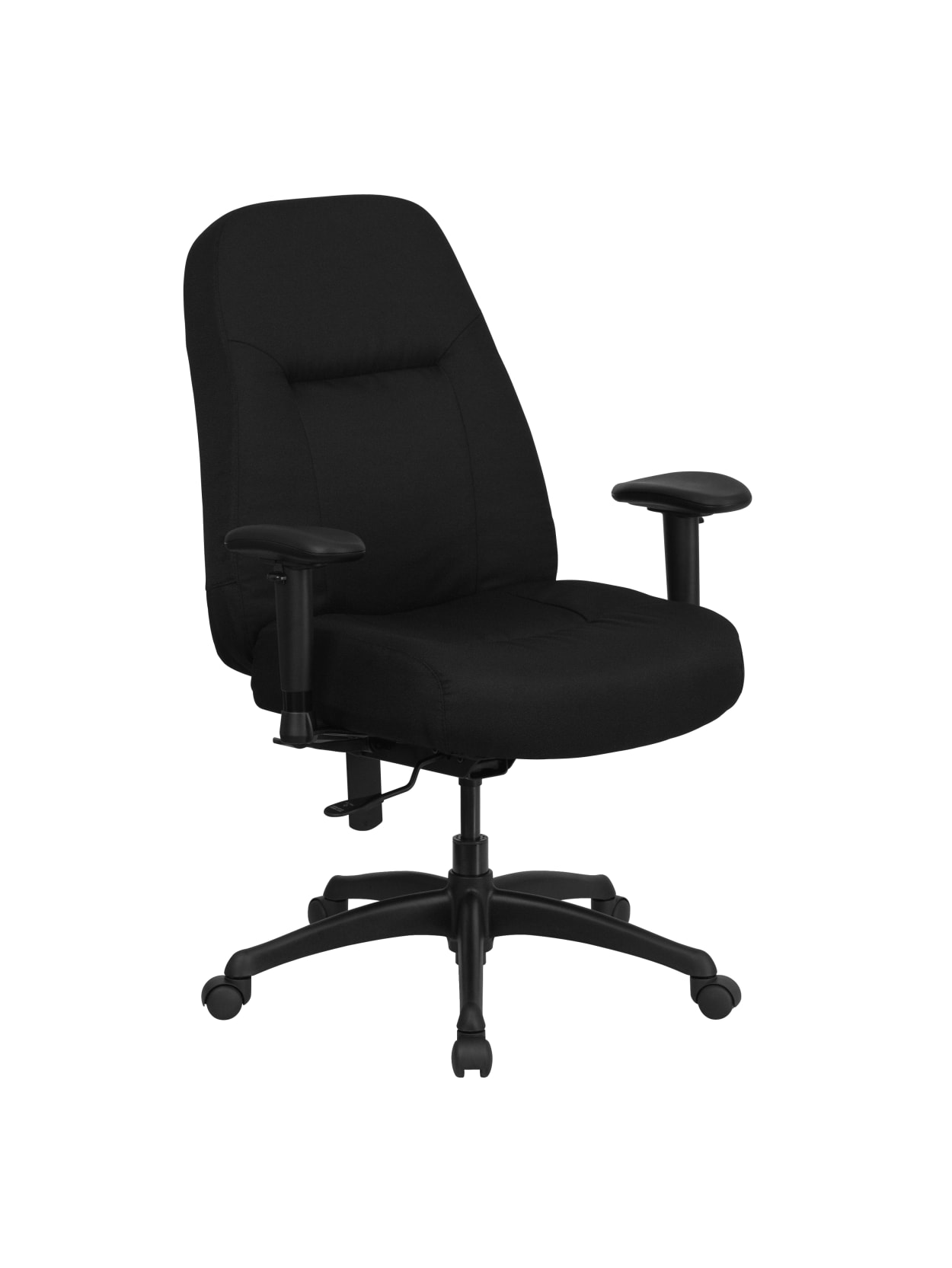 Flash Furniture Hercules Big And Tall Fabric High Back Swivel Office Chair With Extra Wide Seat Black Office Depot