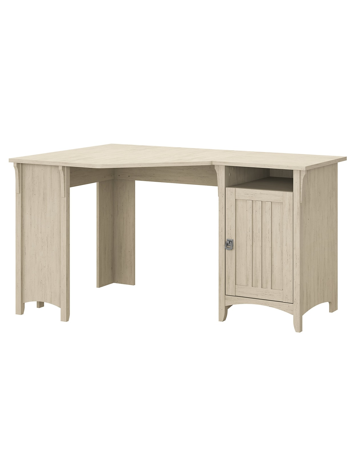 Bush Furniture Salinas Desk W Storage White Office Depot