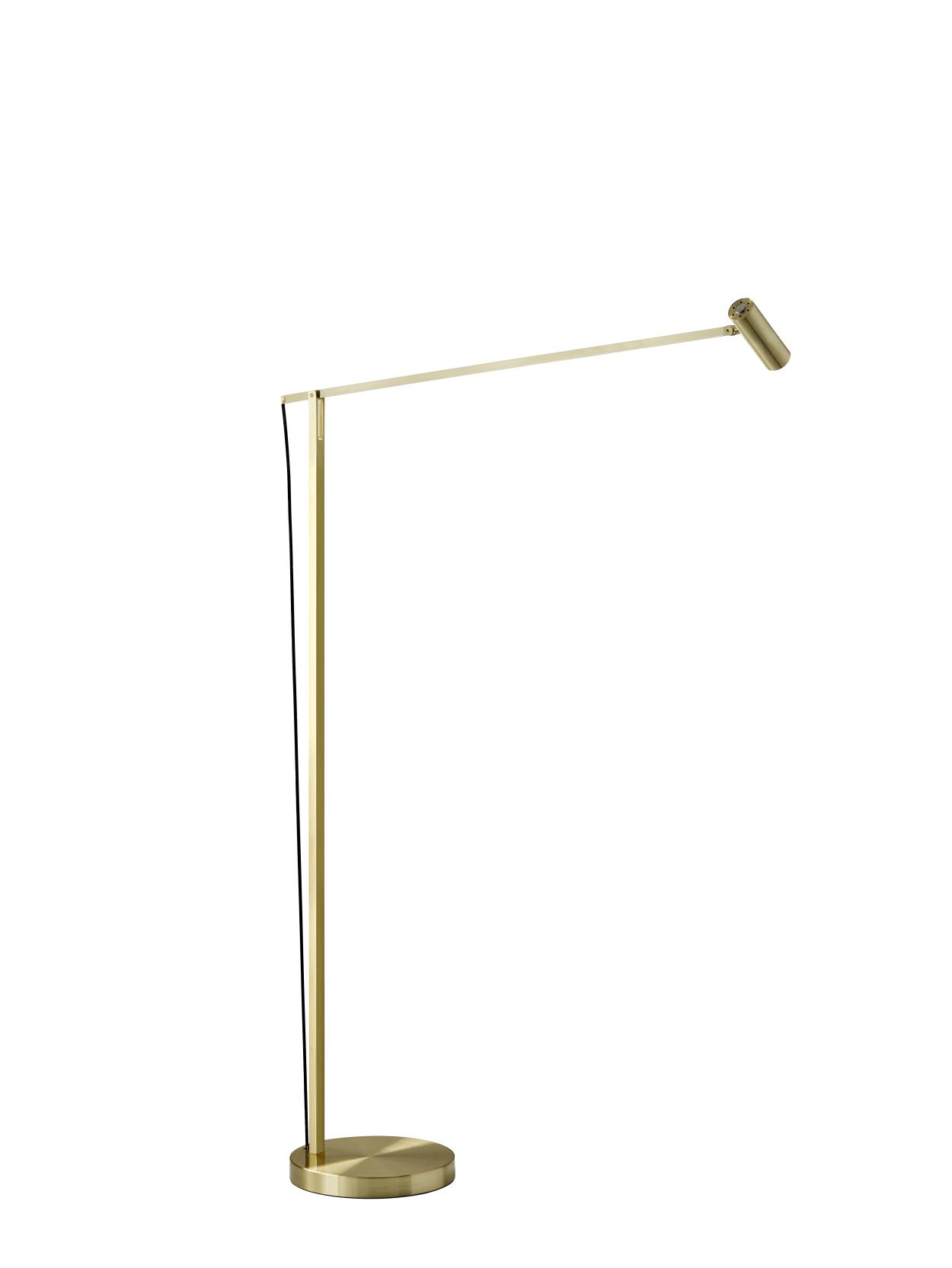 Image of: Adesso Ads360 Crane Floor Lamp Brushed Gold Office Depot