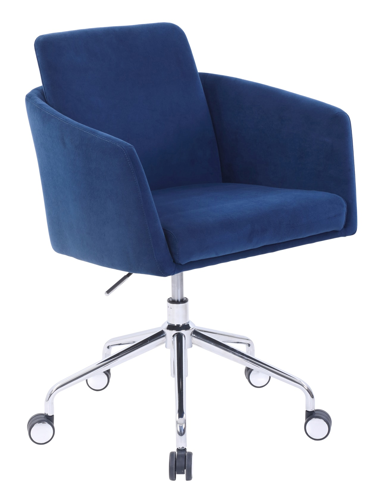 Elle Decor Vevey Velvet Mid Back Chair Navy Office Depot