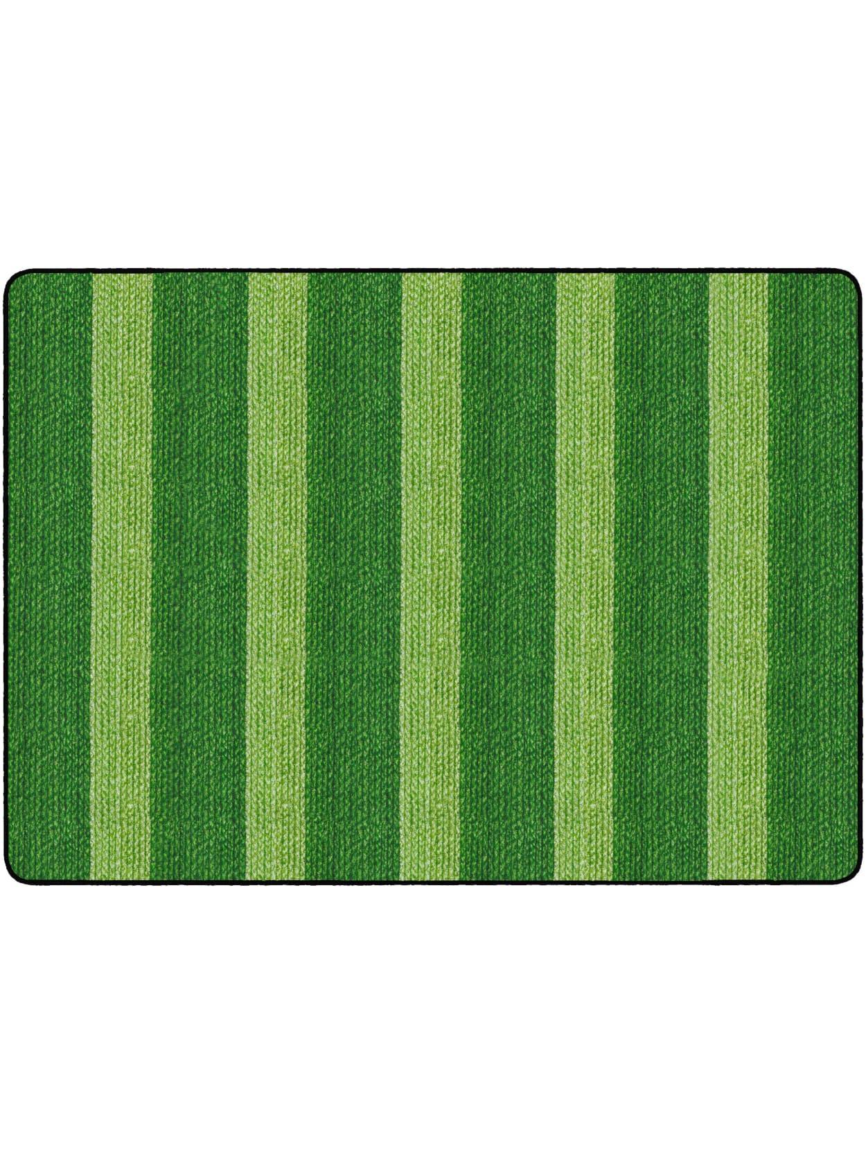 Flagship Carpets Basketweave Stripes Classroom Rug 6 X 8 38 Green Office Depot