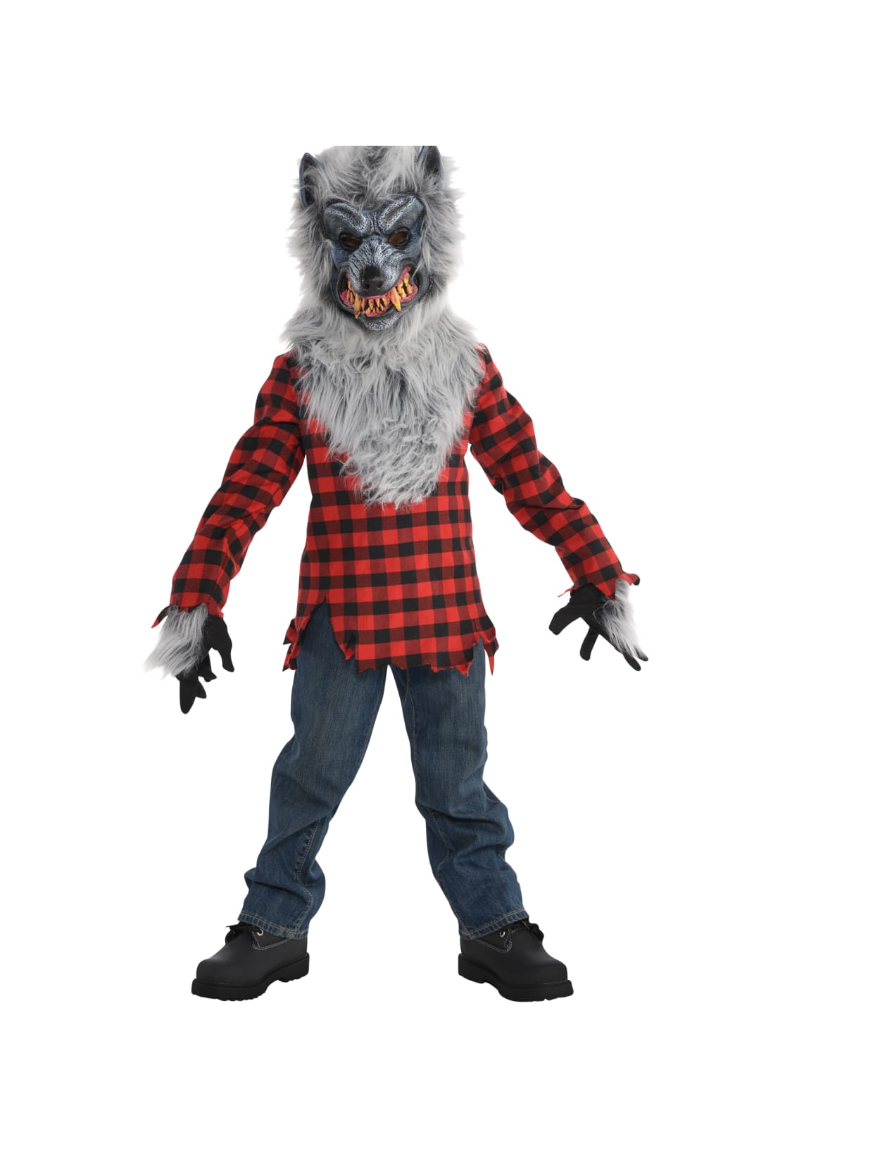 AMSCAN Hungry Howler Werewolf Halloween Costume for Boys Medium with Included Accessories