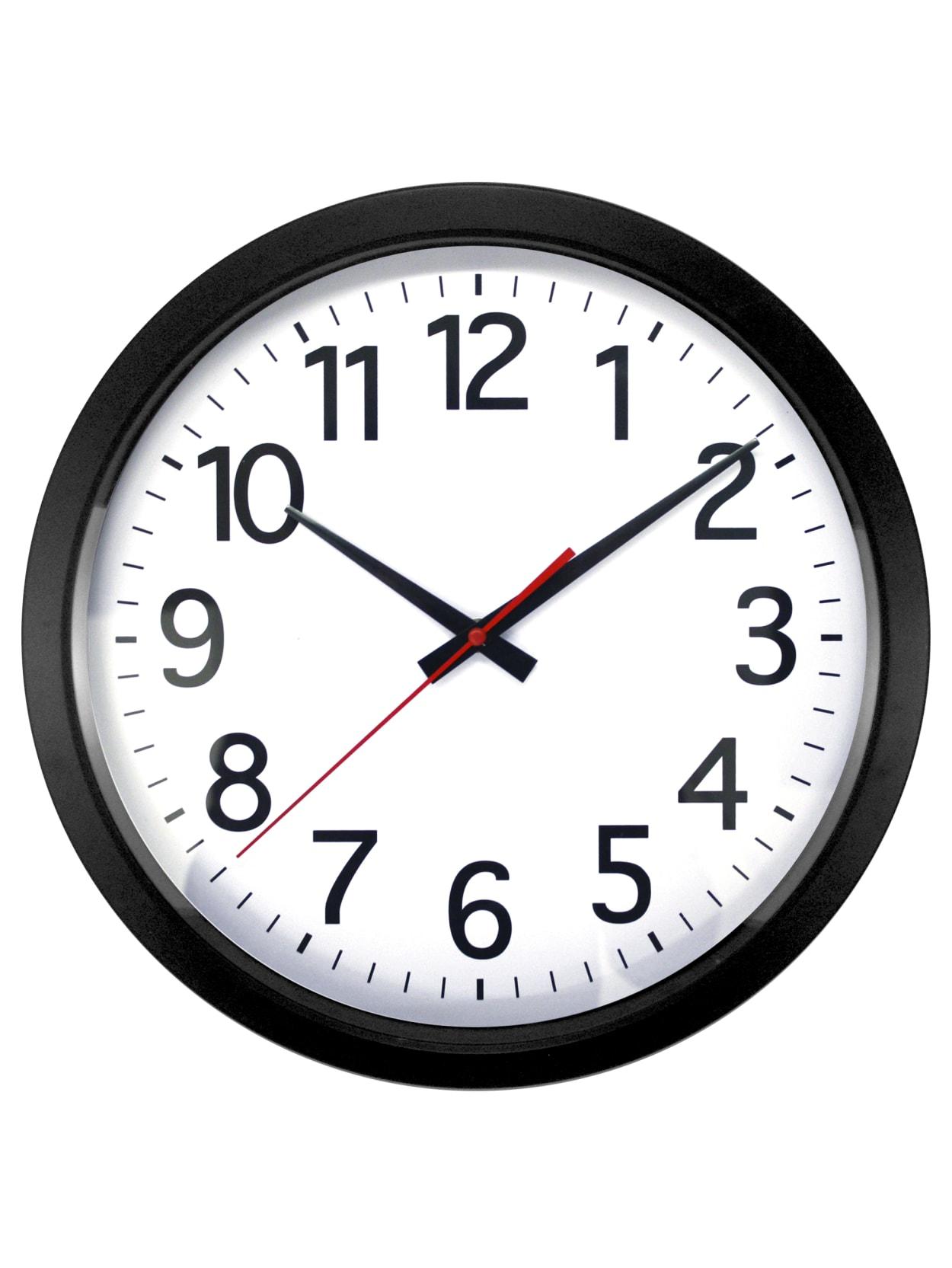 Realspace Quartz Wall Clock 14 Black Office Depot