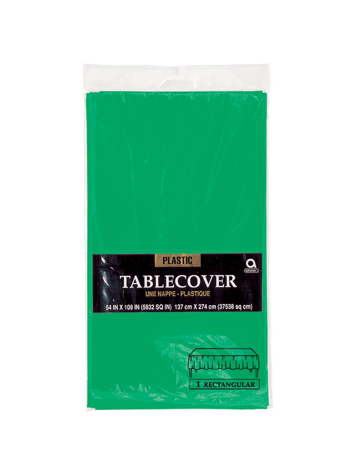 Festive Green Plastic Table Cover
