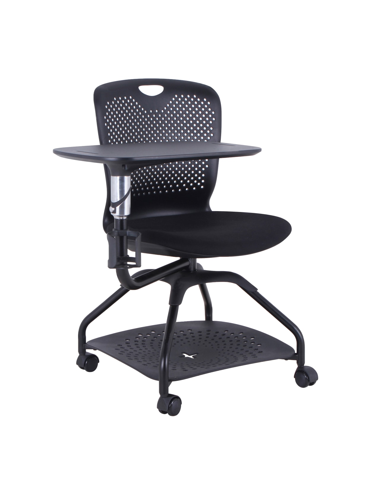 Lorell Mobile Student Training Chair Black - Office Depot