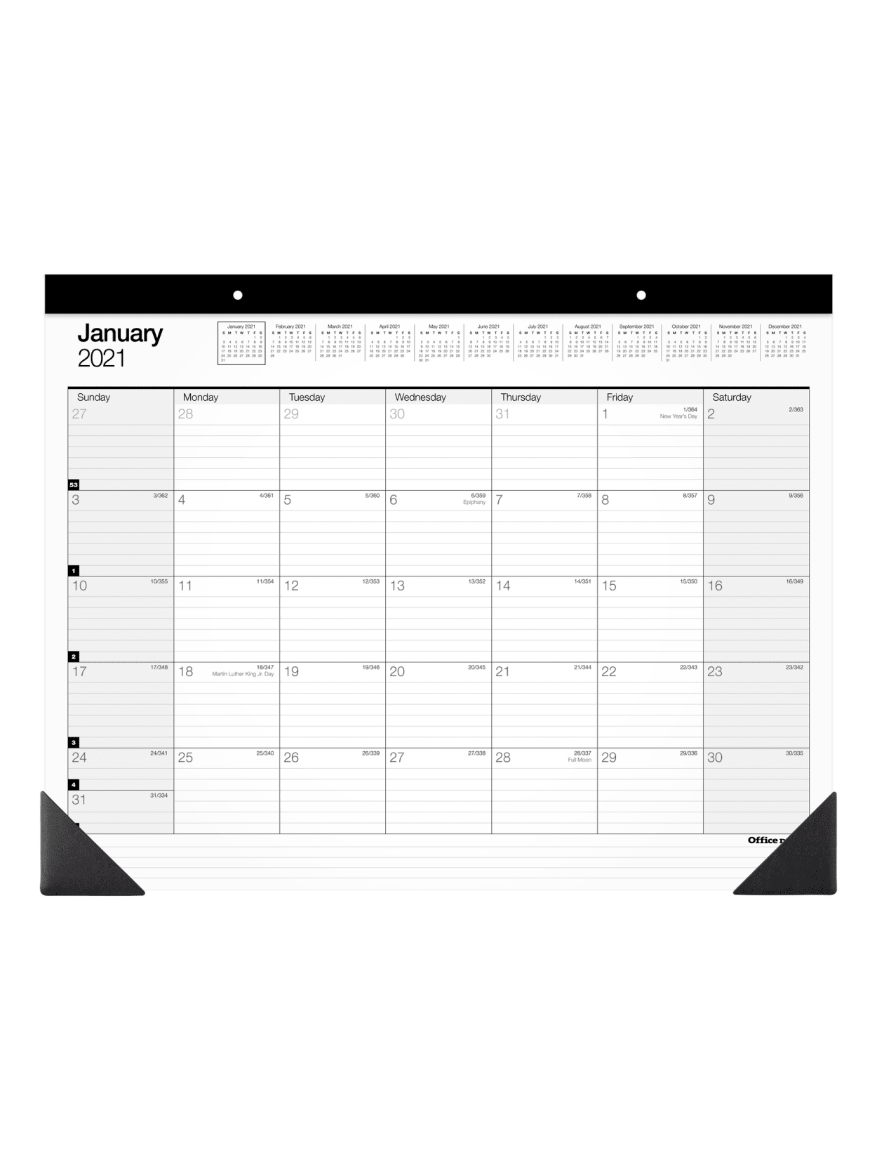 Office Depot Monthly Desk Pad Sp24d0021 Office Depot