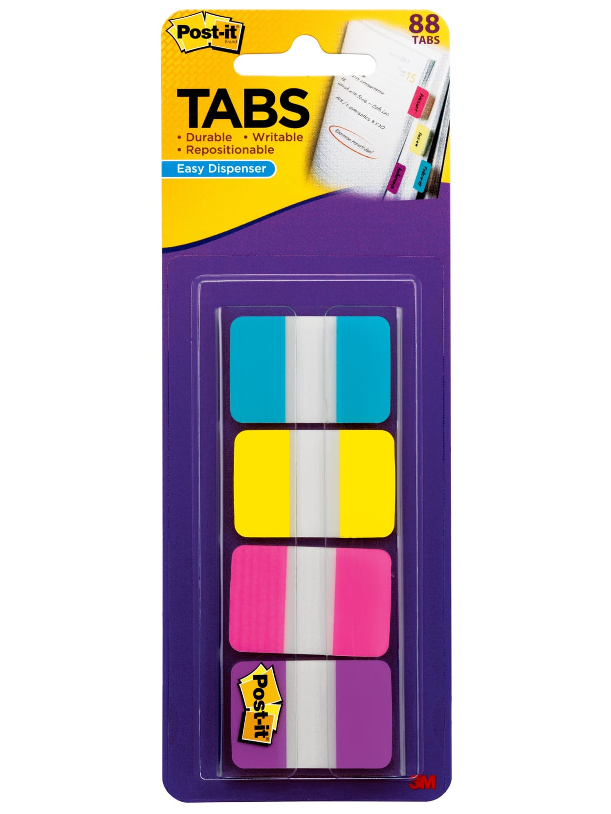 1//2 in Wide 100//On-the-Go Dispenser Flags Assorted Primary Colors