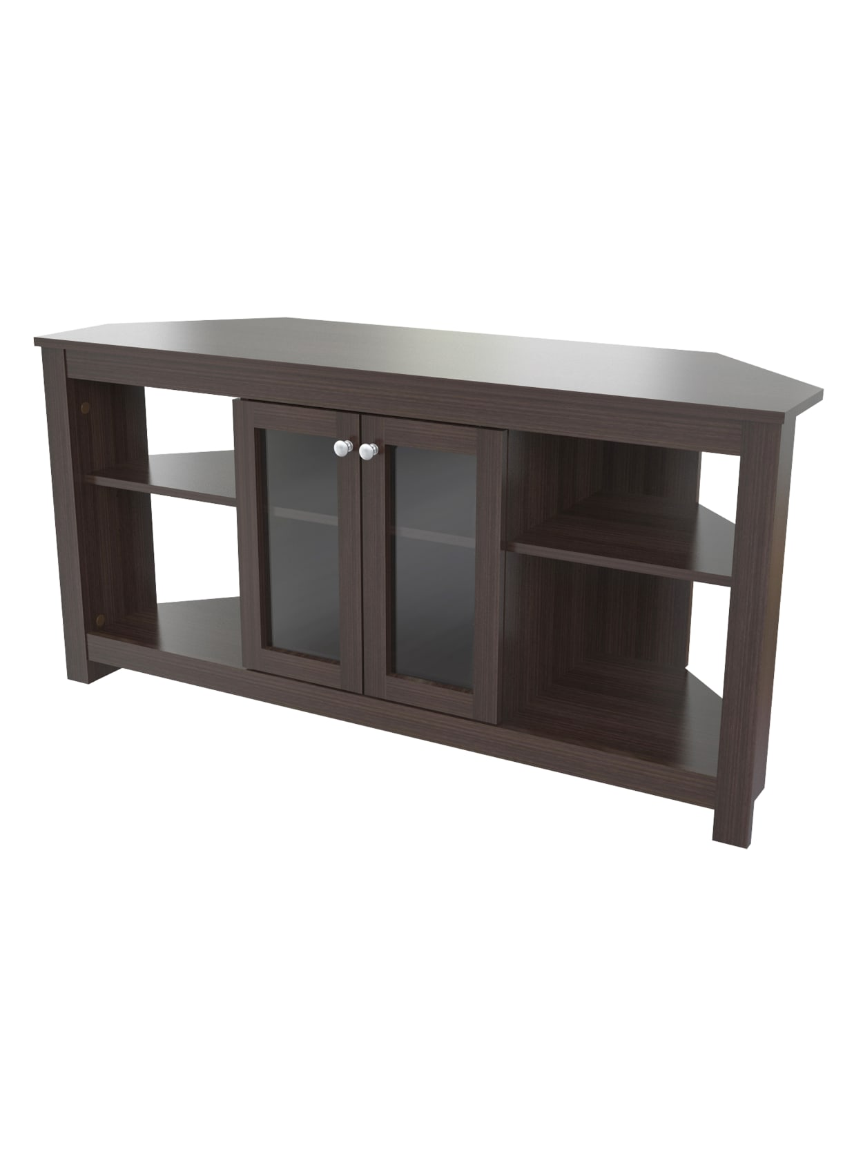 Inval Corner Tv Stand Wdoors Espresso Office Depot