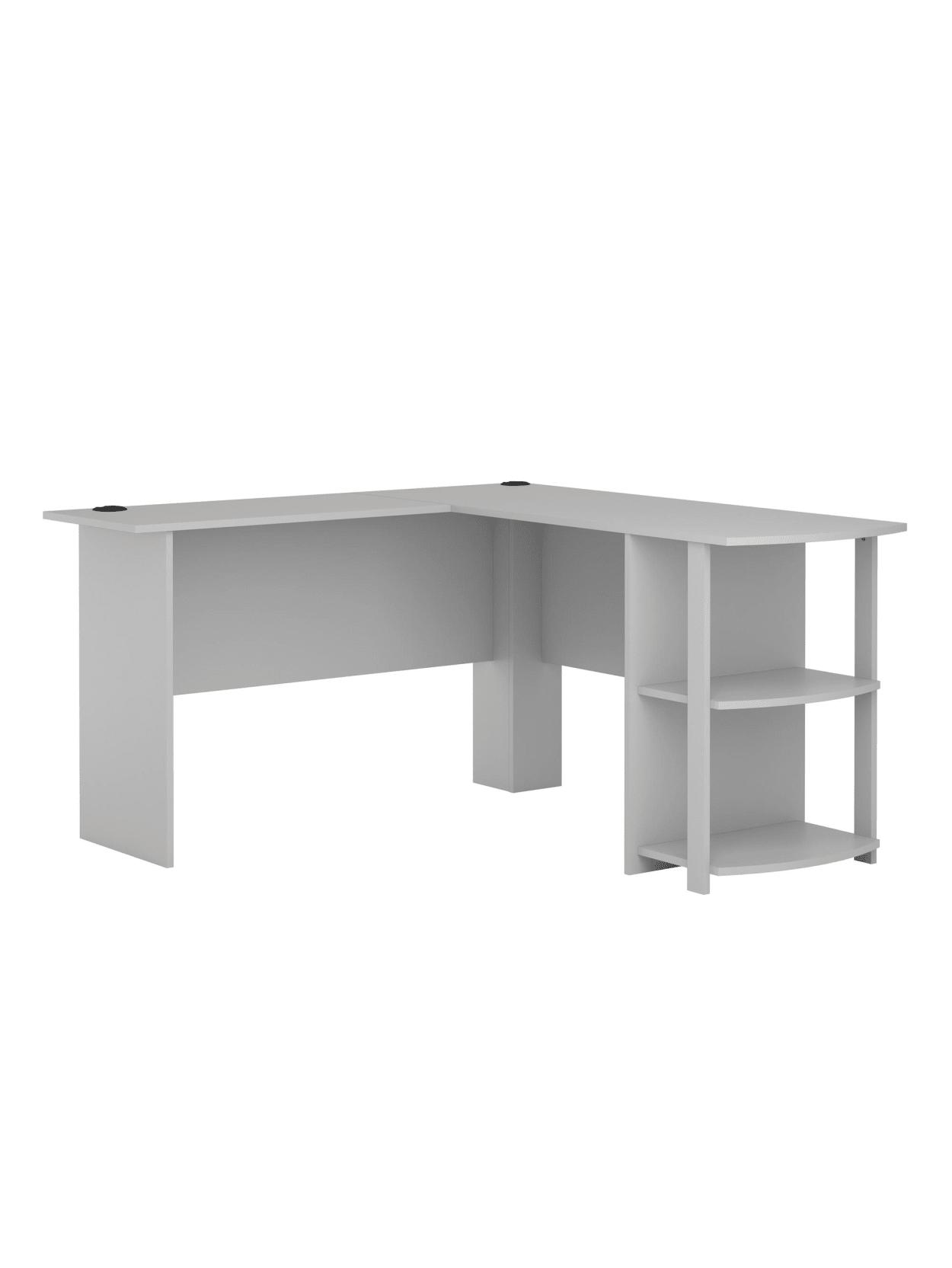 Ameriwood Home Dakota L Shaped Desk With Bookshelves Dove Gray Office Depot
