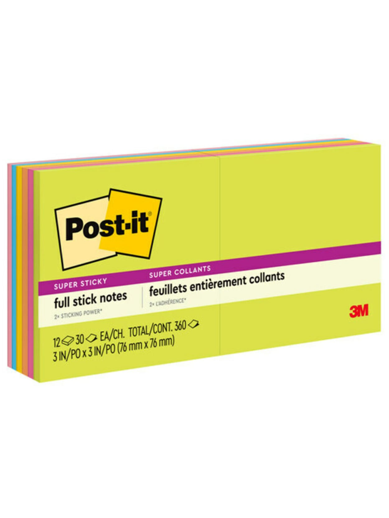 """Post-it Notes New York City Collection 3 x 3/"""" Super Sticky Pack of 5 Pads"""