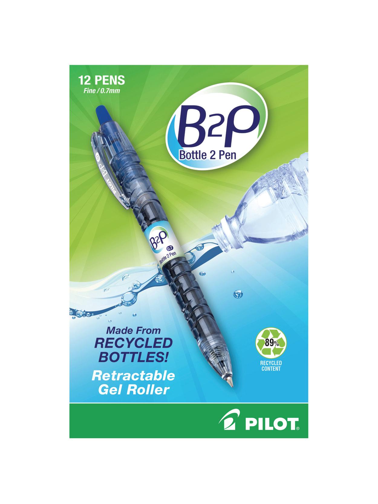 Pilot 32601 B2p Recycled Ballpoint Pen 0.7 Mm Blue Ink Dozen for sale online