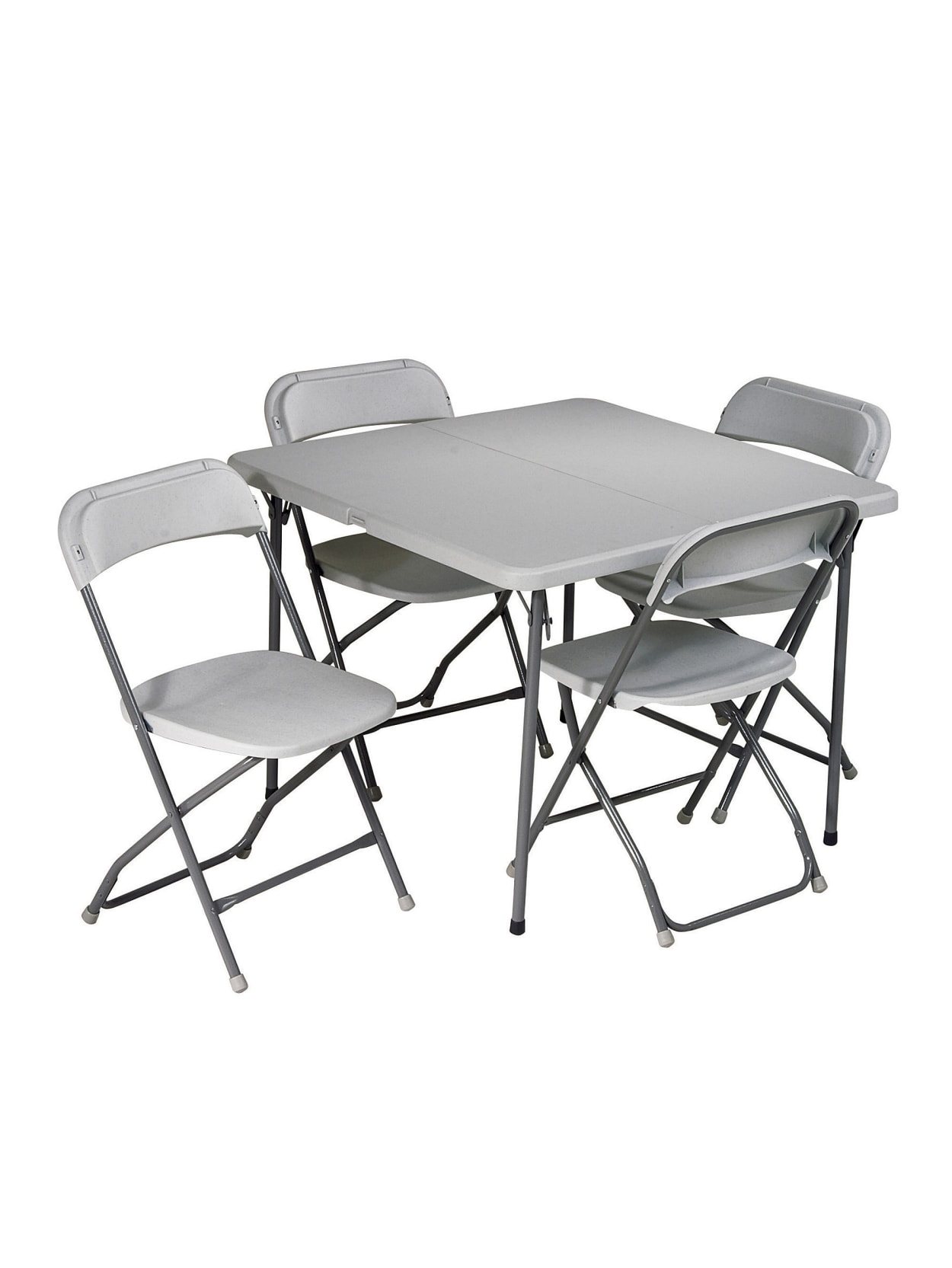 - Work Smart 5 Piece Folding Table And Chair Set Gray - Office Depot