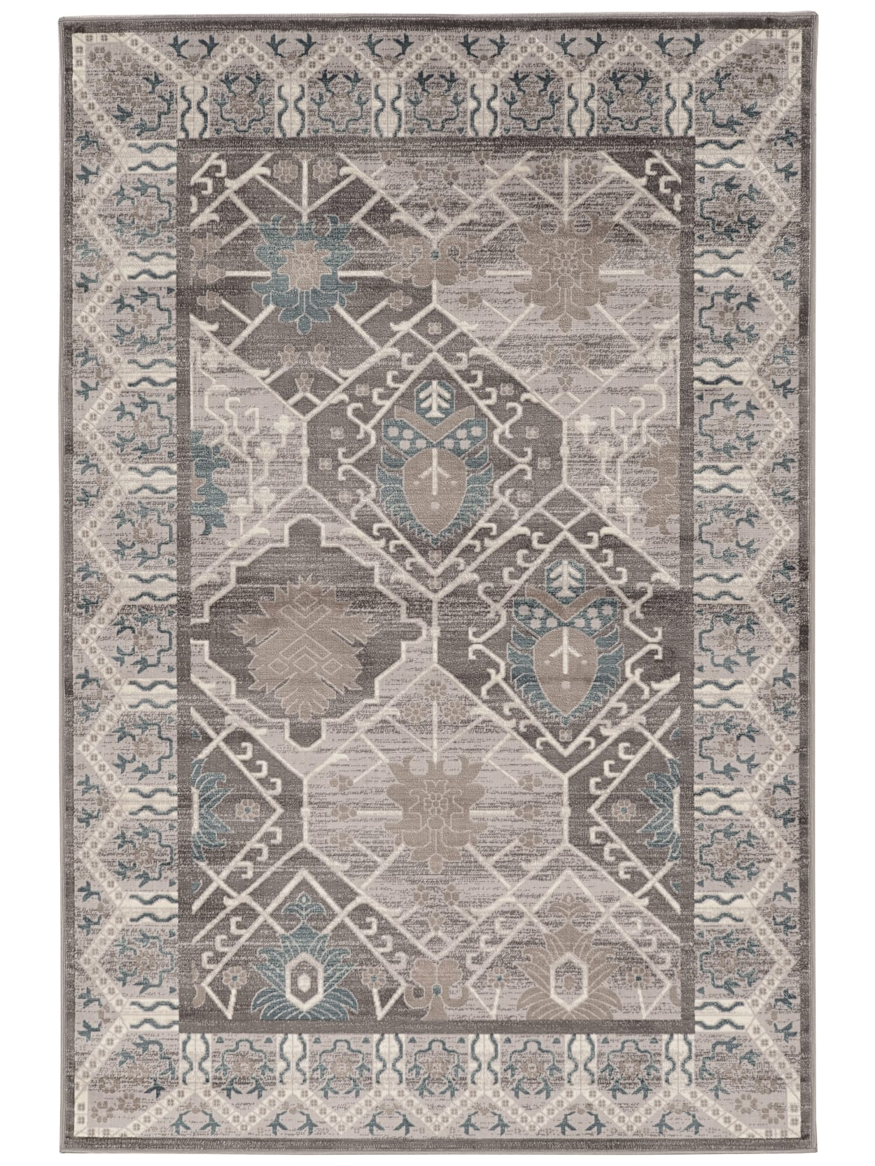 Linon Paramount Rug Belouch 7 5x5 Grychar Office Depot