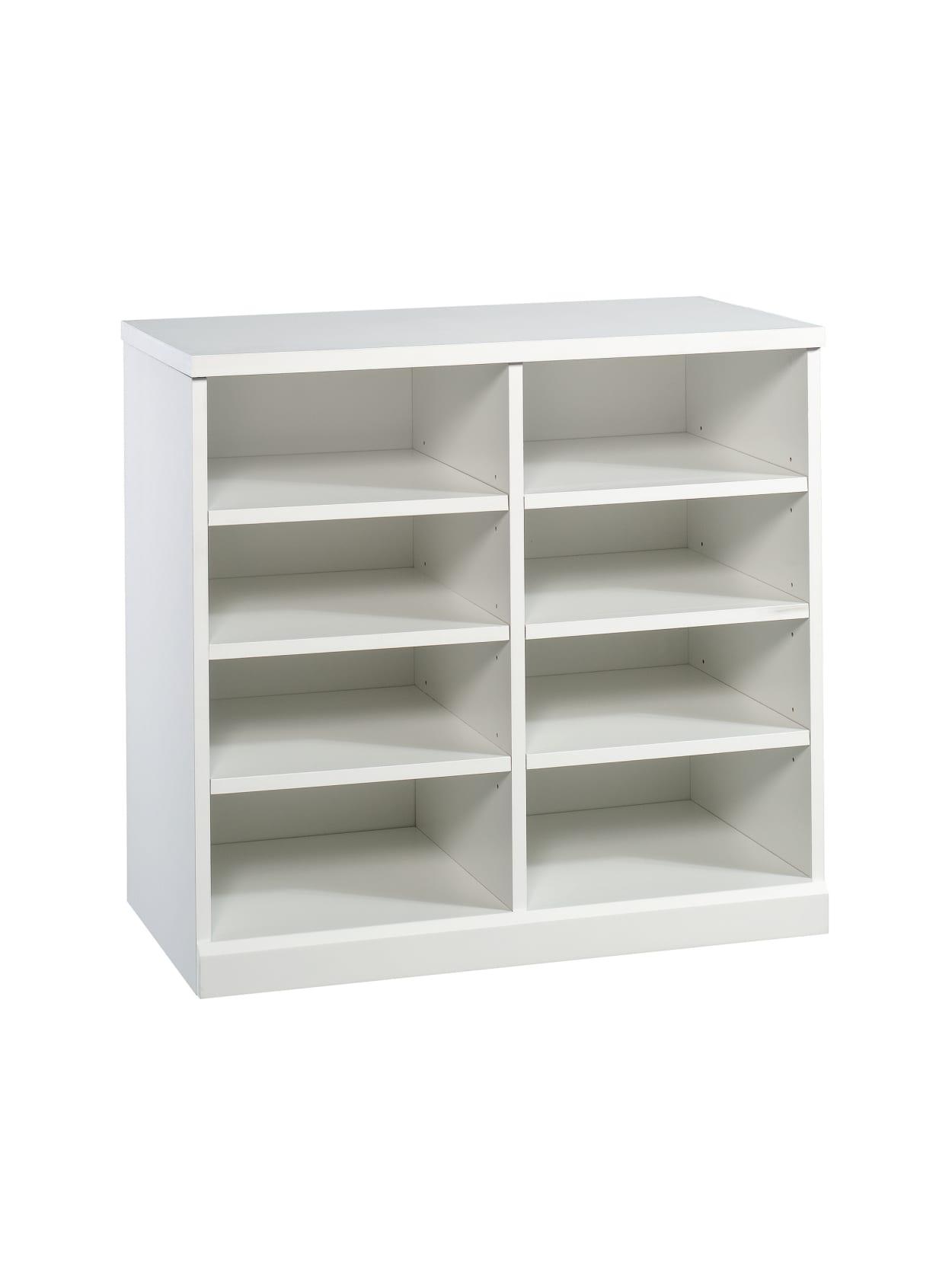 Sauder Craft Pro Series Open Storage Cabinet 8 Shelves White Office Depot