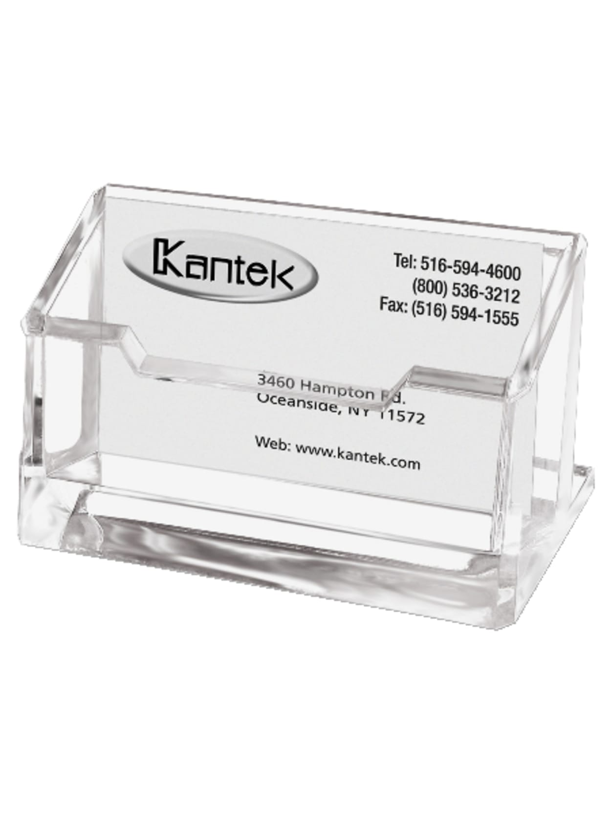 Kantek Acrylic Business Card Holder 200 x 200 20 x 20 120 Clear   Office ...