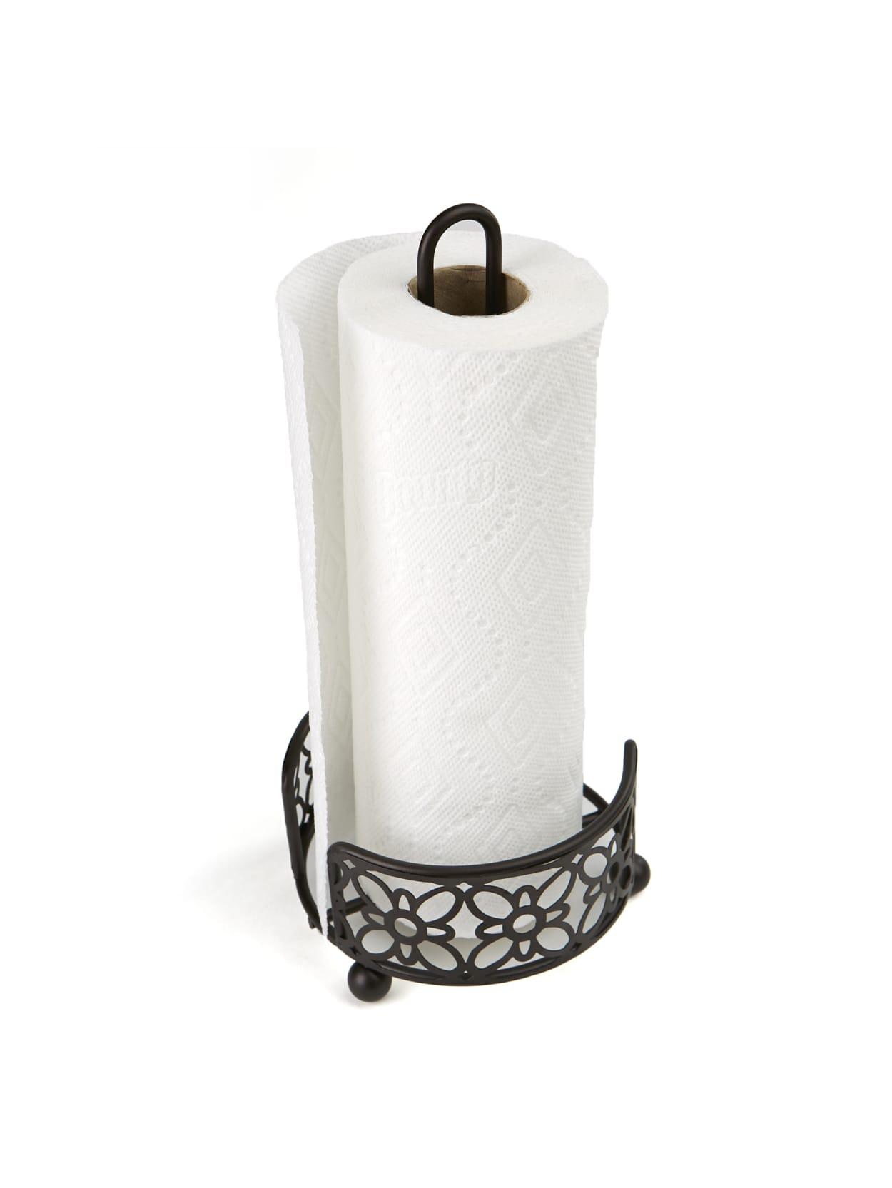 Mind Reader Freestanding Metal Paper Towel Holder Black Office Depot