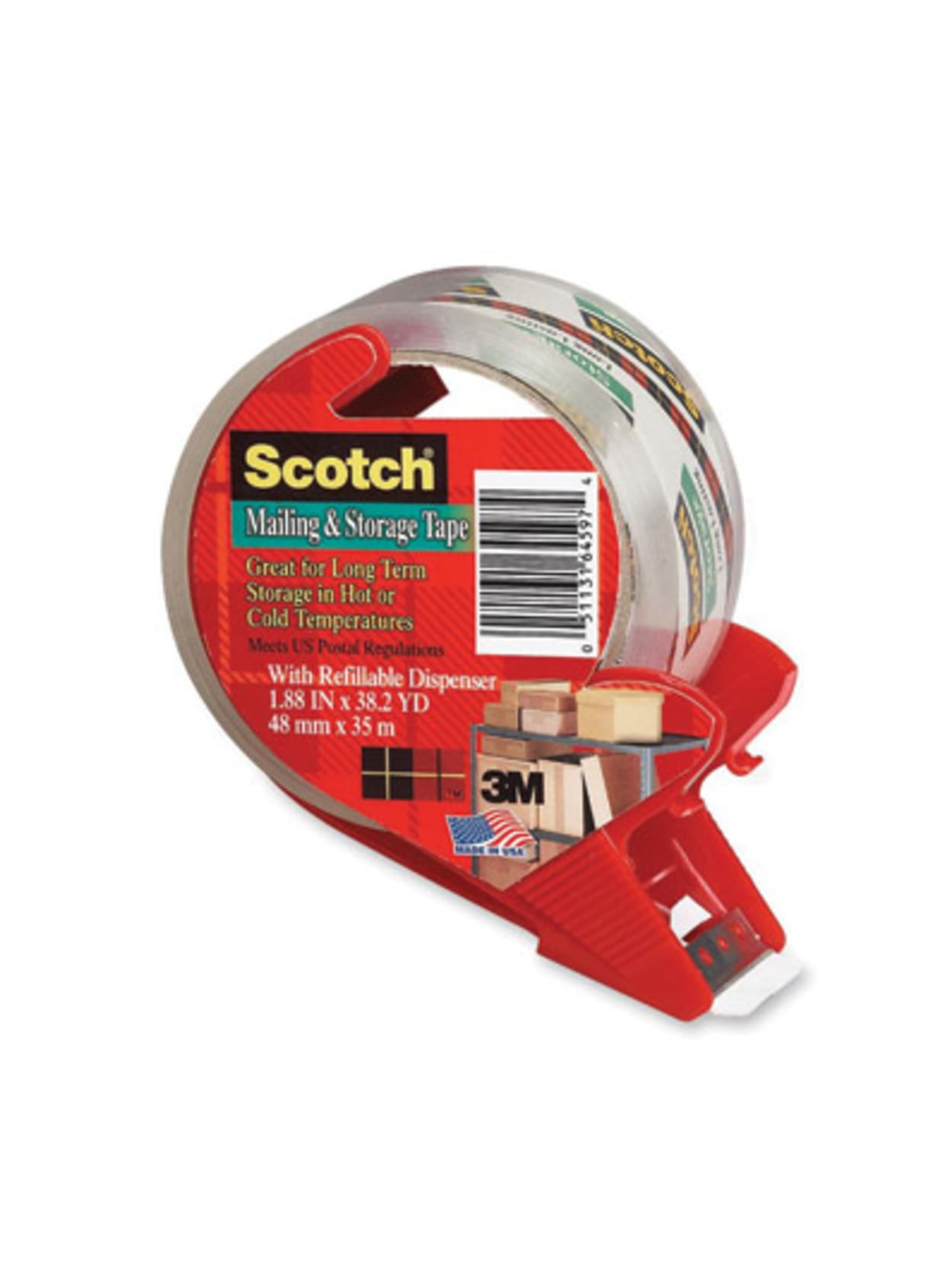 Scotch Moving /& Storage Packaging Tape with Dispenser 2 Pack 1.88 in x 38 Yard