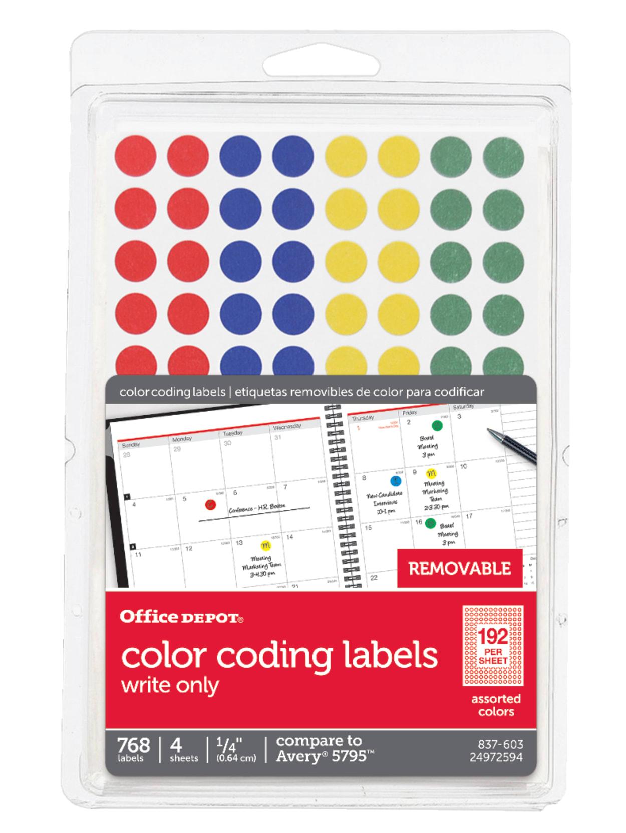 "Round 3 COLOR Stickers Multi Color 3/"" Label BONUS 2 FREE"