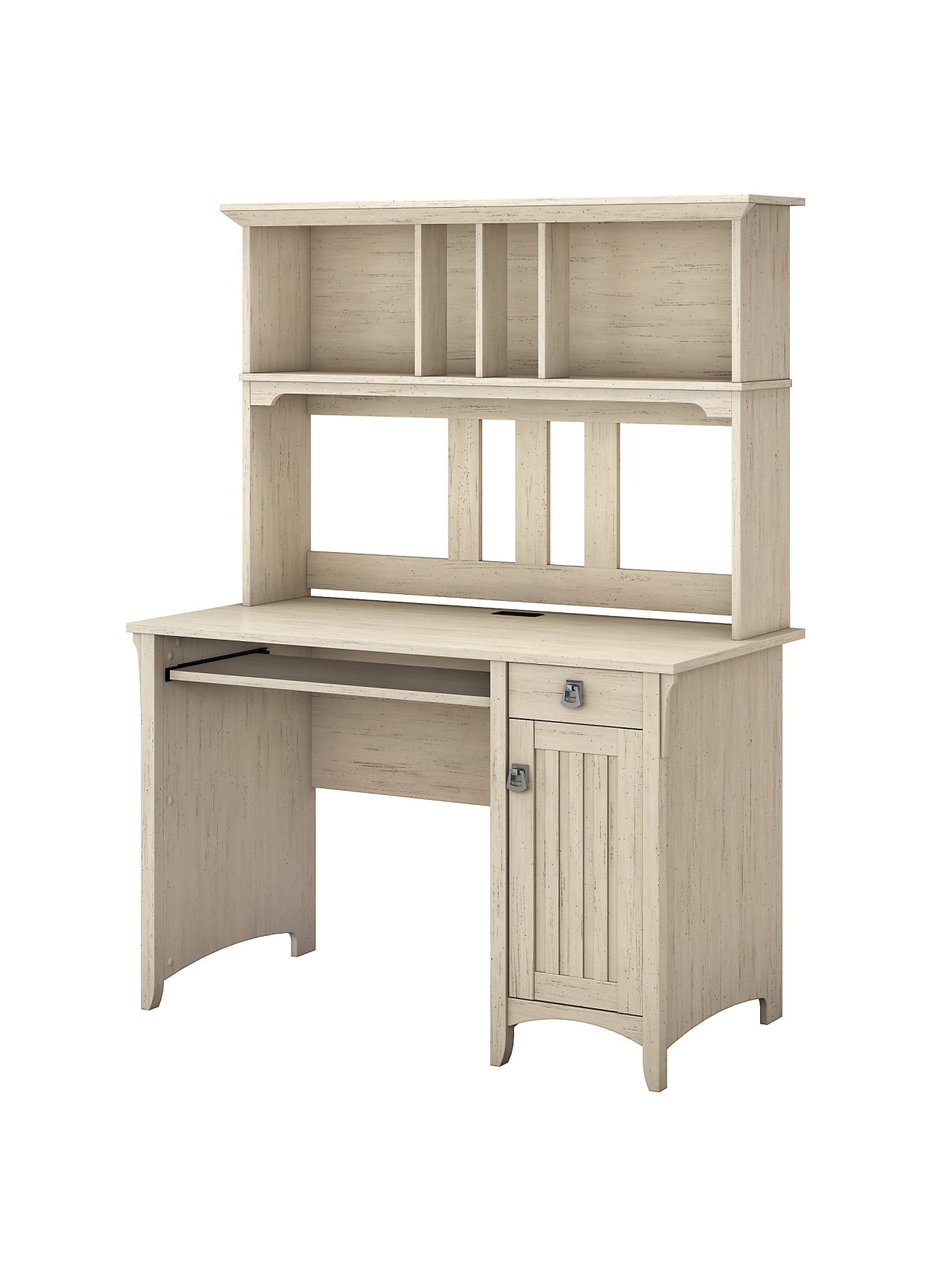 Bush Furniture Salinas Mission Desk With Hutch Antique White Standard Delivery Office Depot