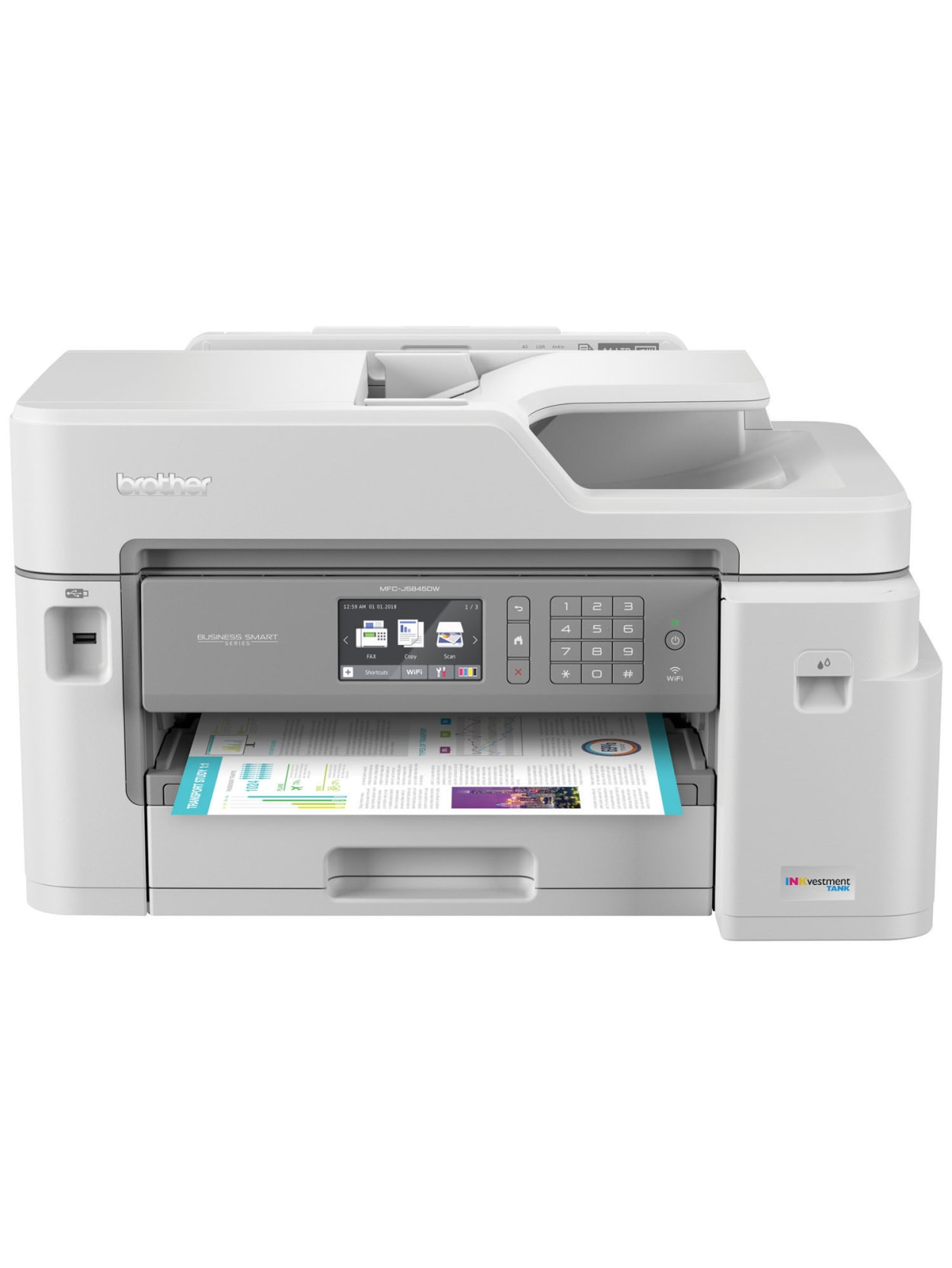Brother Inkvestment Tank Mfc J5845dw Wireless Inkjet All In One Color Printer Office Depot