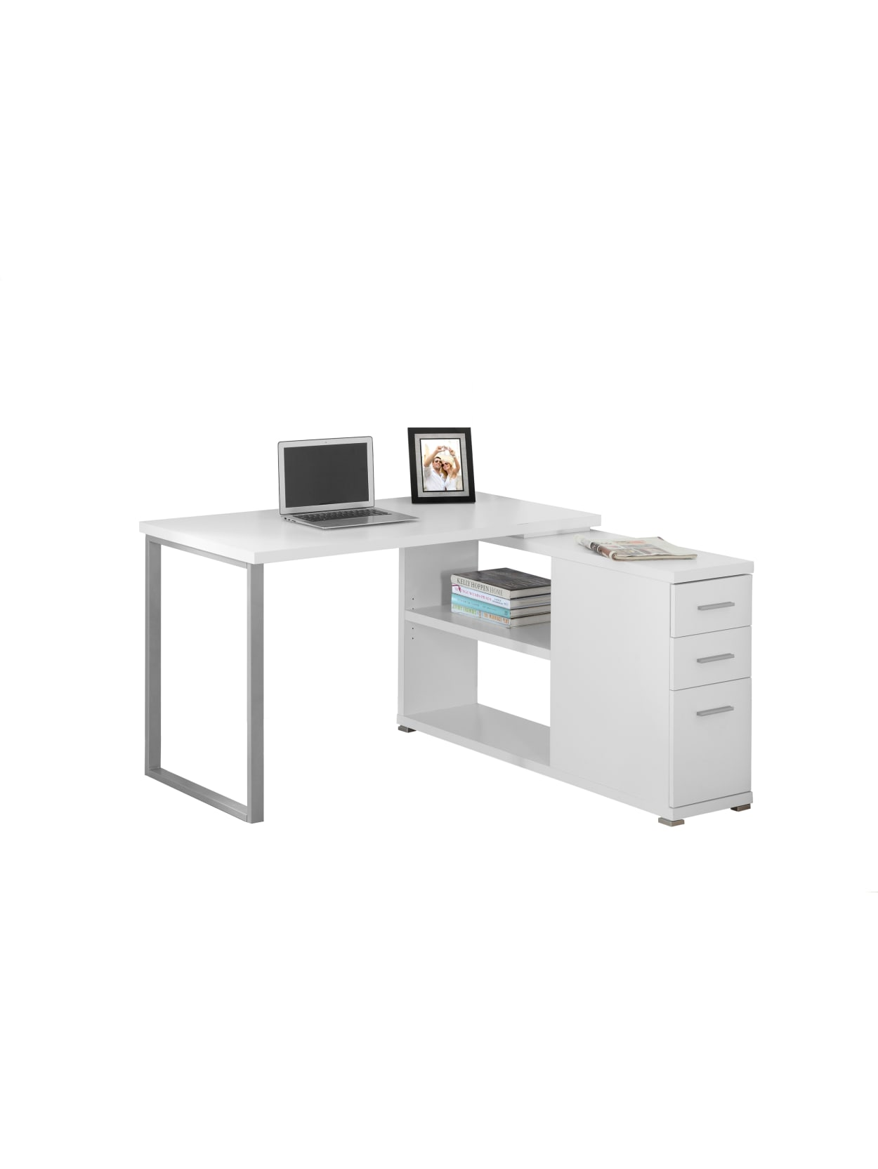 Furniture Details About L Shaped Desk, L Shaped Desk Office Computer Glass Corner With Keyboard Tray Instructions