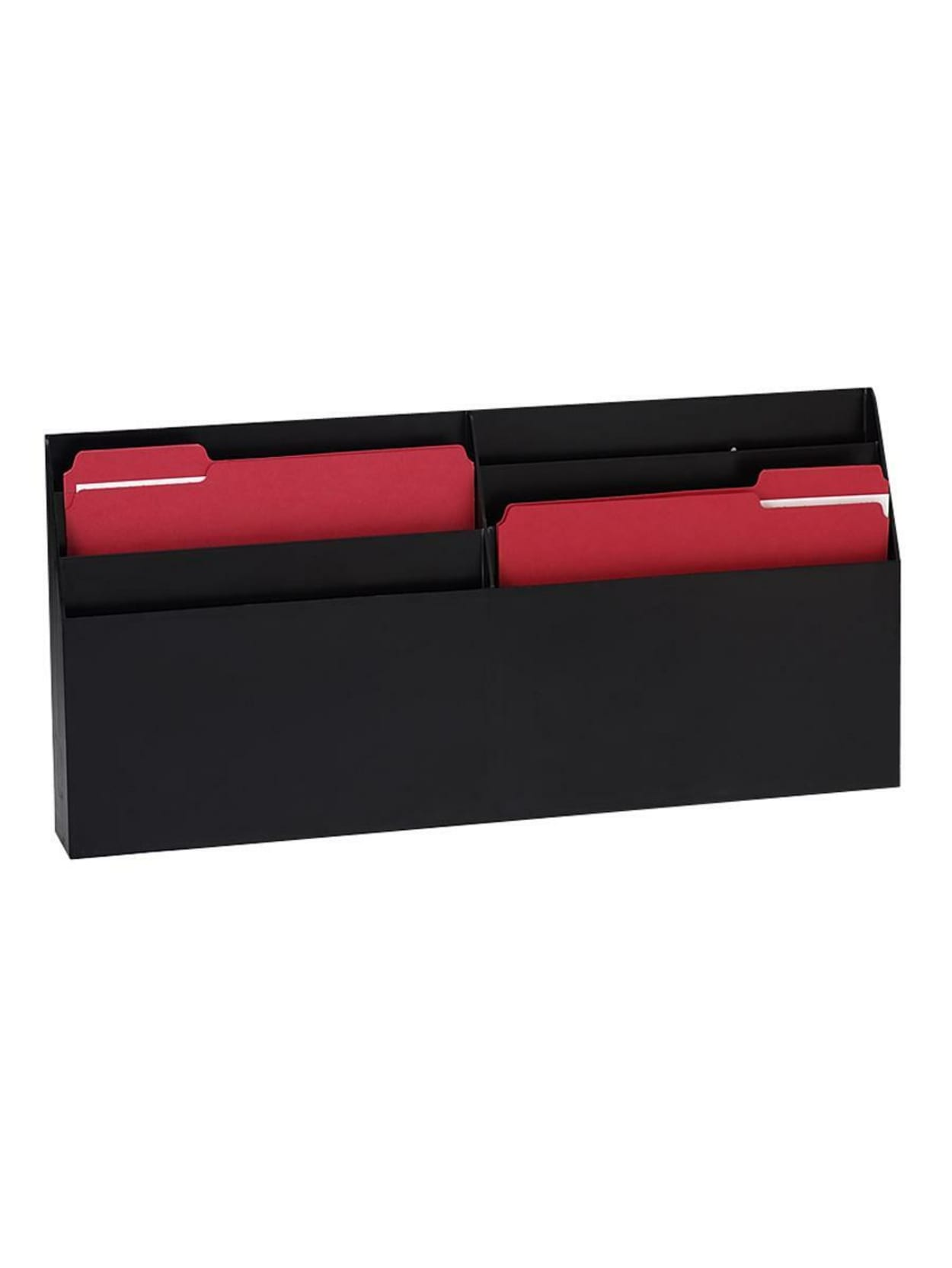 Eldon Optimizers 6 Pocket Organizer 11 5 H X 24 6 W X 2 8 D Black Office Depot