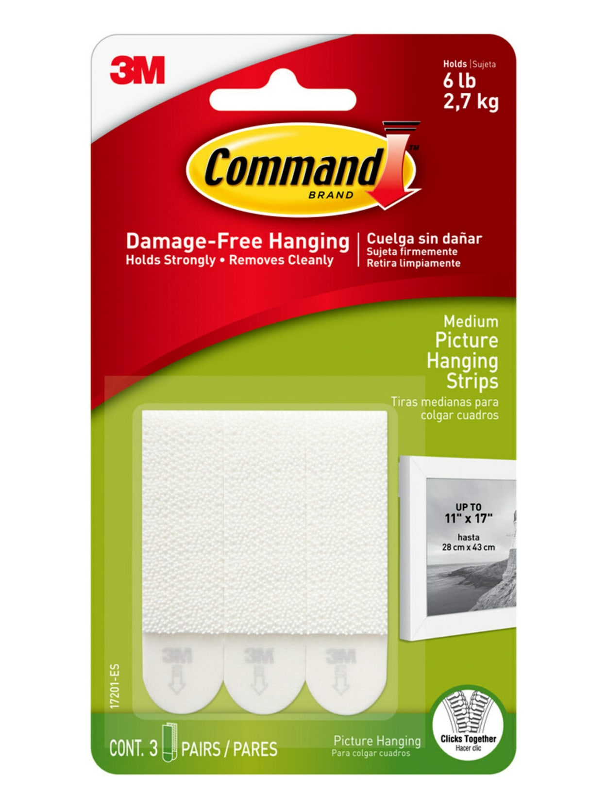 68Strips 3M Command Damage-Free Large Picture Hanging Strips Package 34Pairs