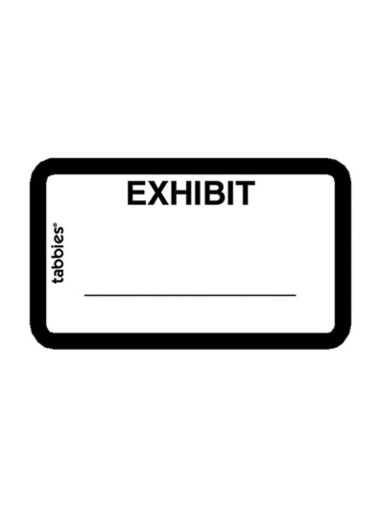 100 per pack 21-30 Blue Border Tabbies/® Exhibt Index Labels