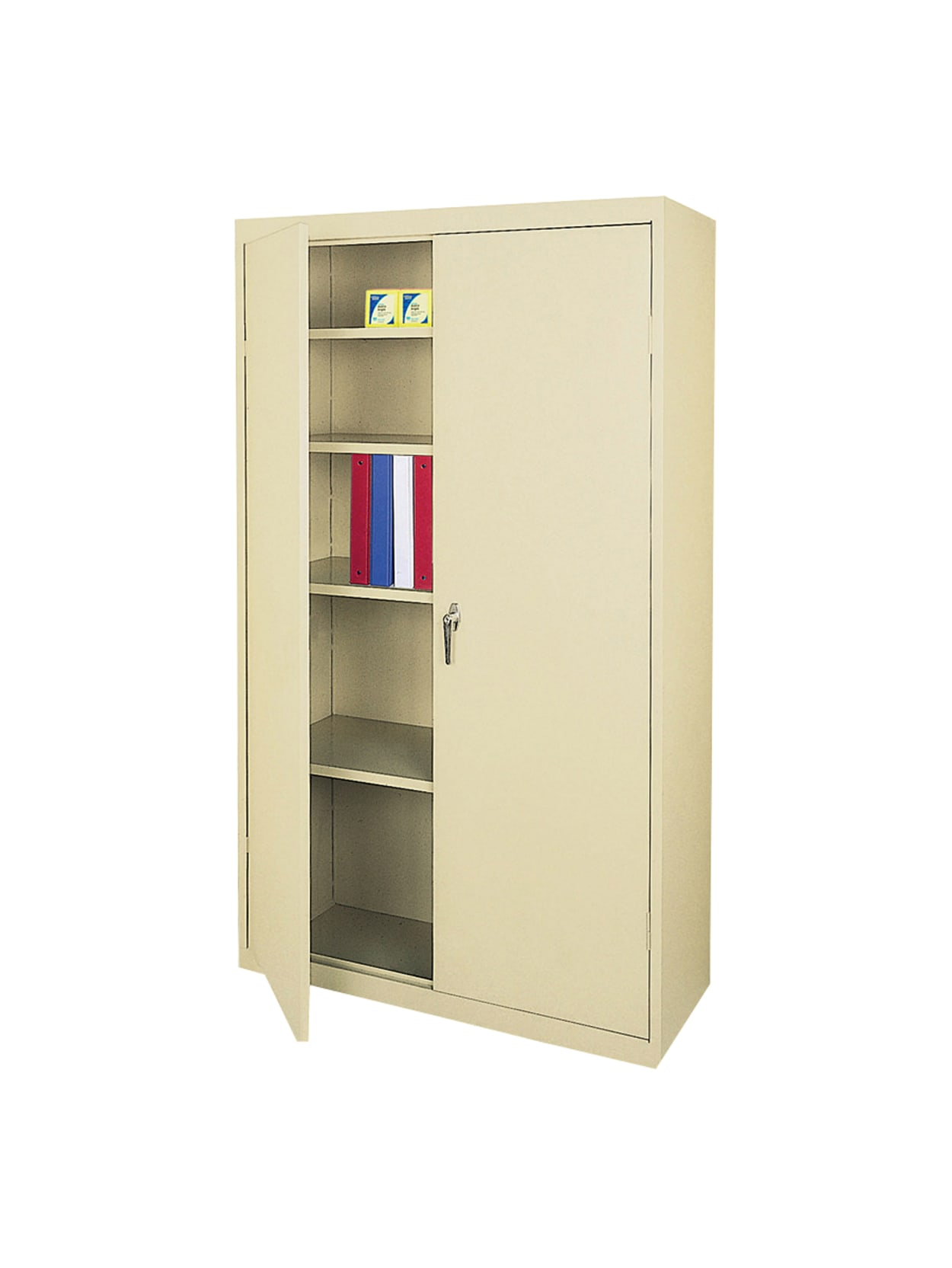 Picture of: Realspace Steel Cabinet 5 Shelves Putty Office Depot