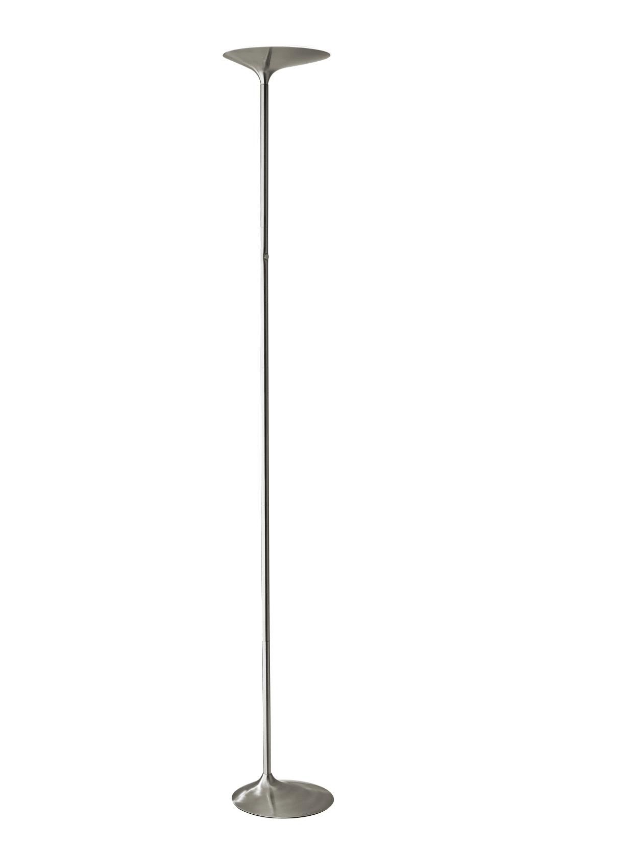 Image of: Adesso Kepler Led Torchiere Floor Lamp 70 12 H Brushed Steel Shadebrushed Steel Base Office Depot