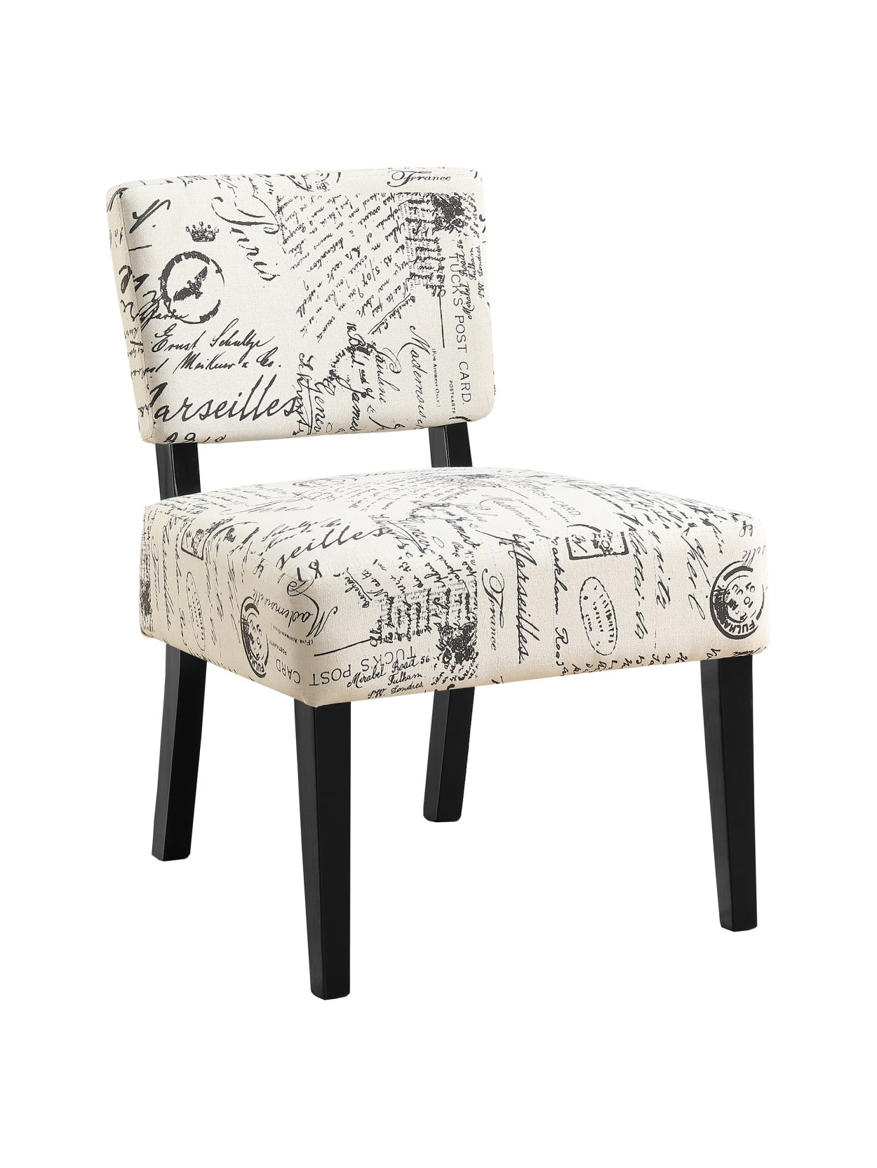 Picture of: Monarch Specialties Armless Accent Slipper Chair Off Whiteblack Office Depot