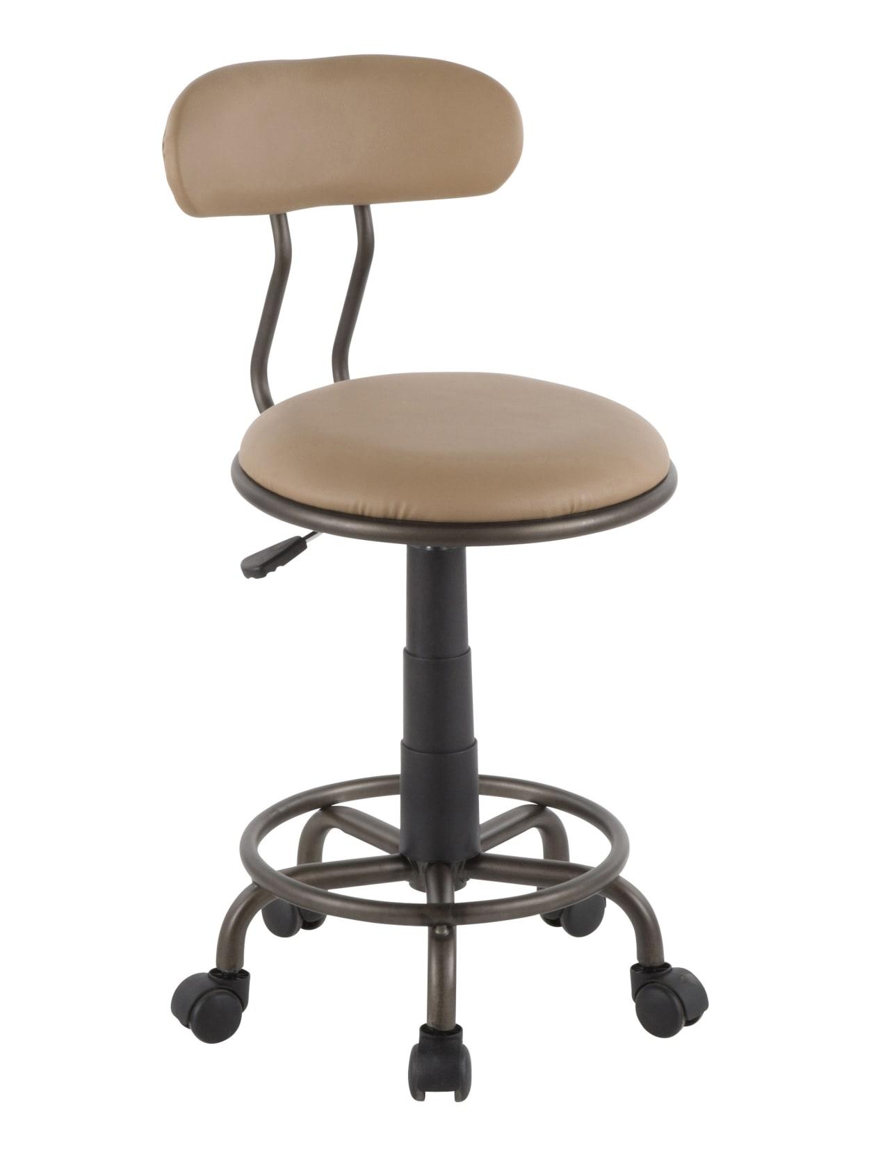 Lumisource Swift Task Chair Antique Metalcamel Office Depot