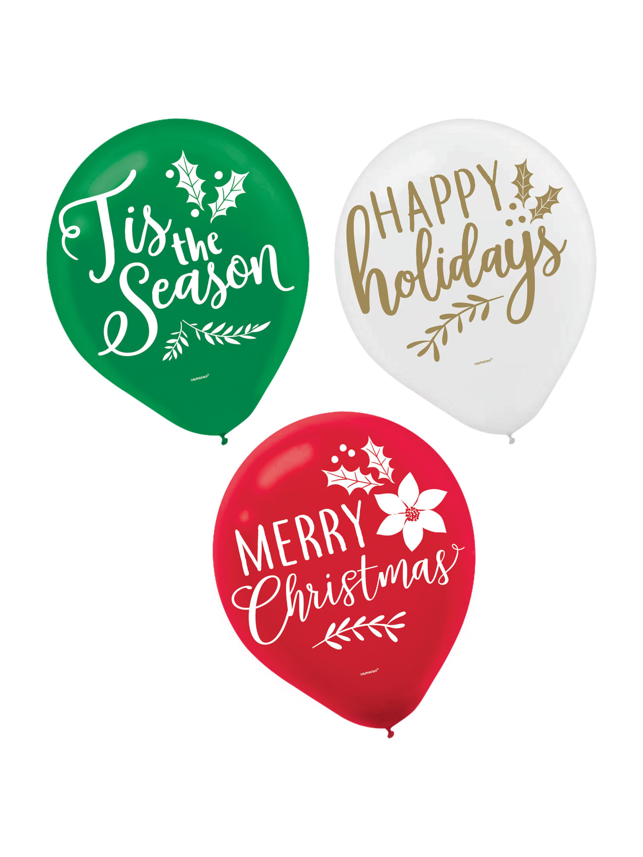 Amscan Traditional Christmas Balloons 60ct Office Depot