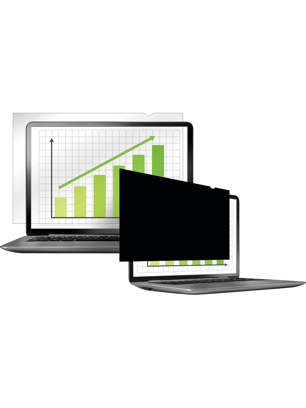 Fellowes PrivaScreen Blackout Privacy Filter 23.6 Wide Black FEL4814401