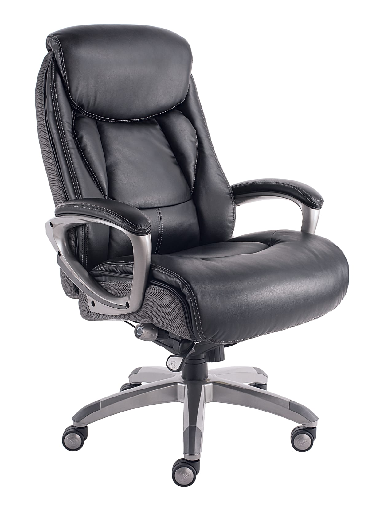 Serta Works MeshBonded Leather High Back Office Chair With Smart