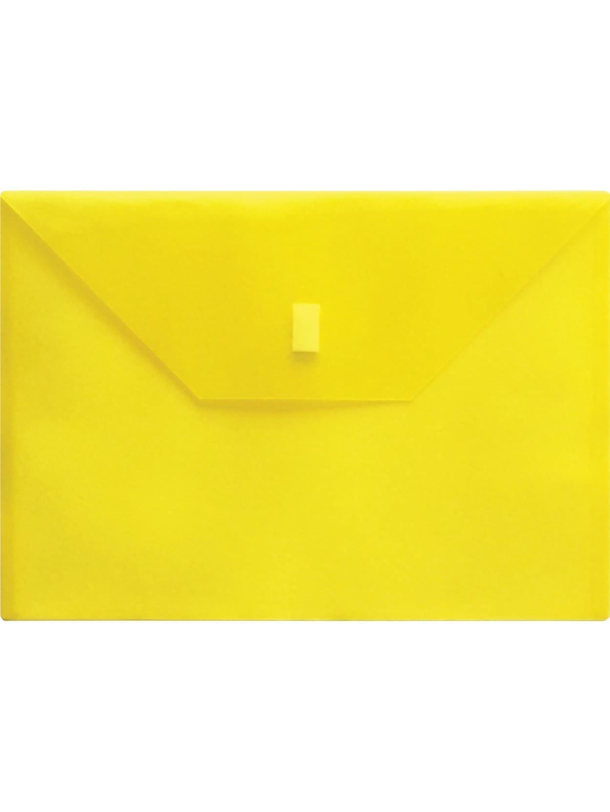 "Set of 3 Lion Office Poly Envelope Hook /& Loop Closure 13""x 9-3//8"" Clear"